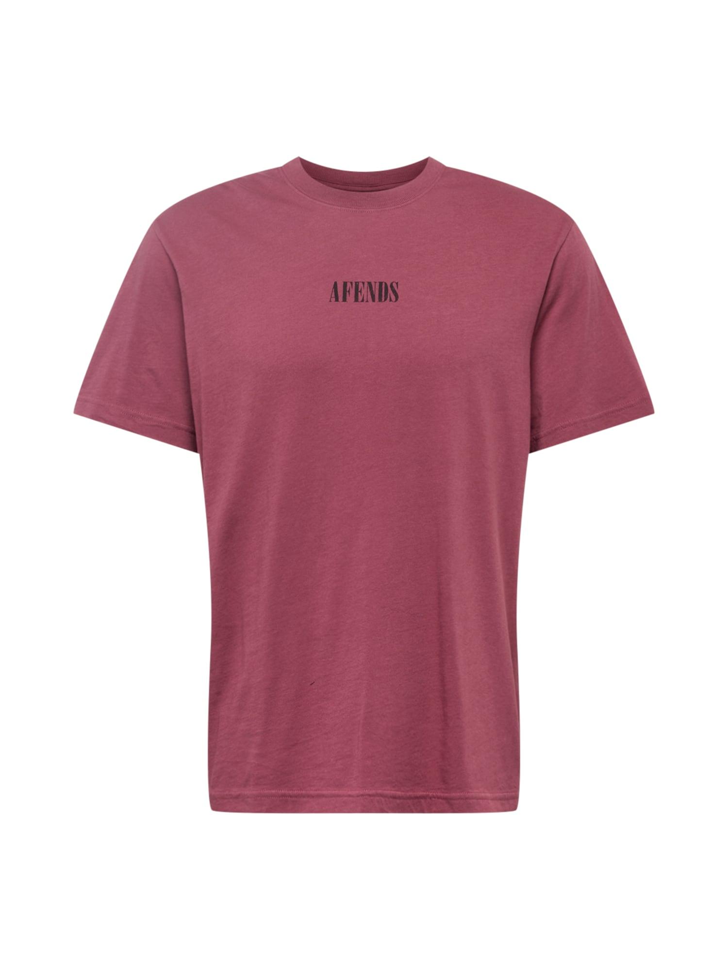 Afends Marškinėliai pastelinė raudona / juoda