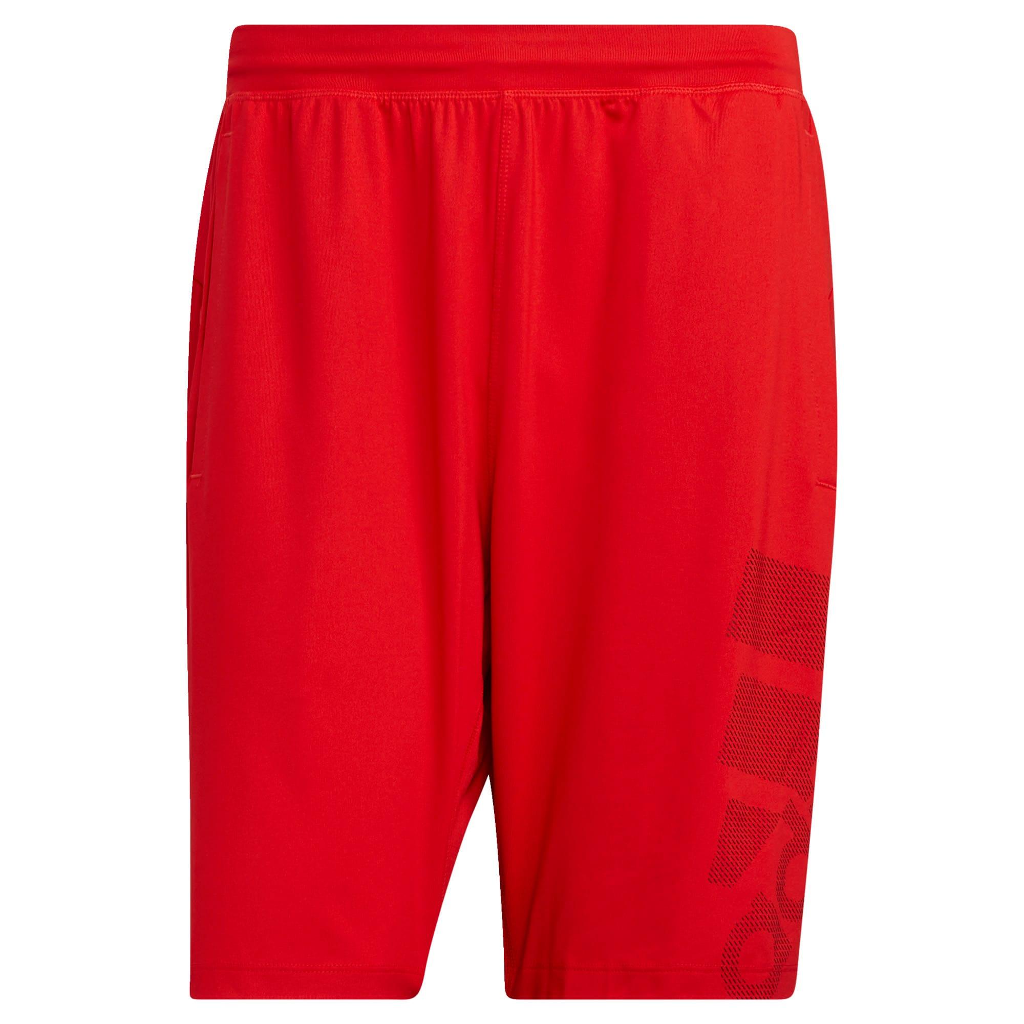 ADIDAS PERFORMANCE Sportinės kelnės juoda / šviesiai raudona