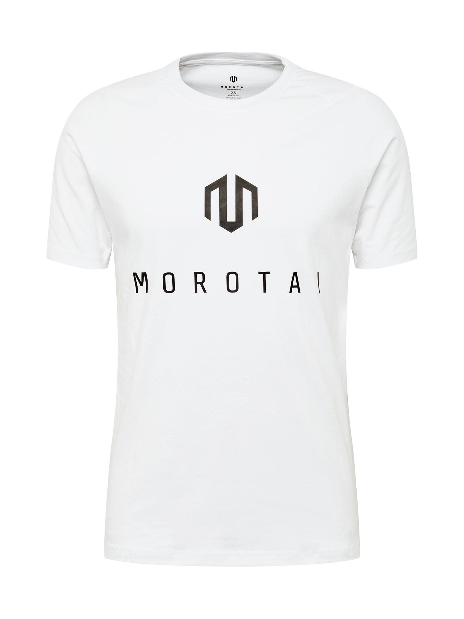 MOROTAI Sportiniai marškinėliai balta / juoda