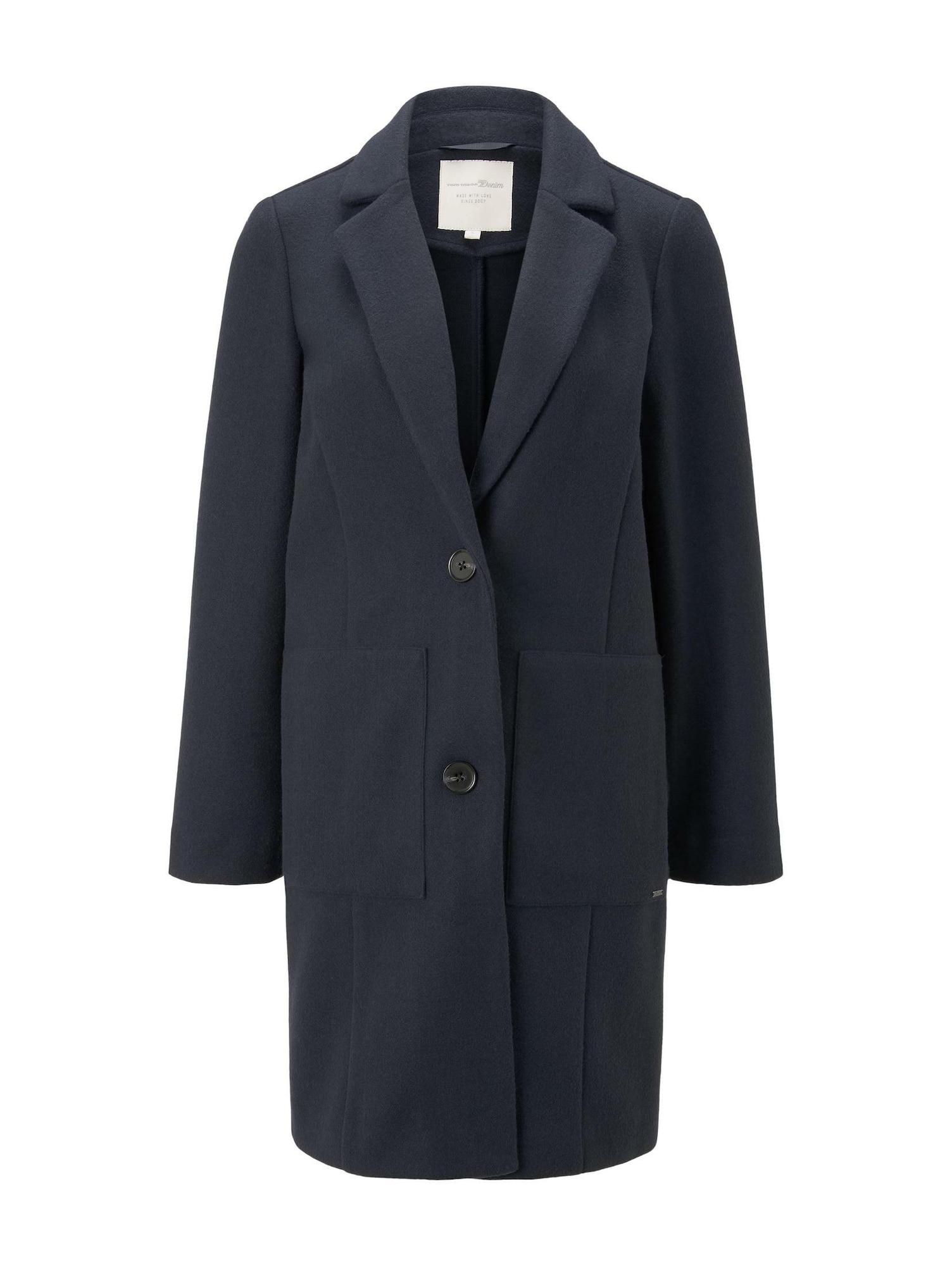 TOM TAILOR DENIM Demisezoninis paltas mėlyna
