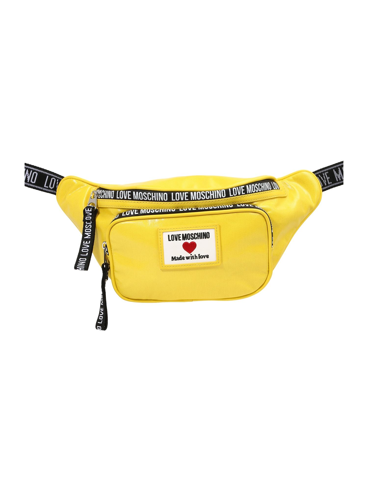 Love Moschino Rankinė ant juosmens geltona / juoda