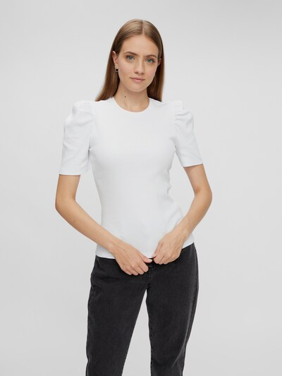 Pieces Anna Puff-Schulter Kurzarm Top
