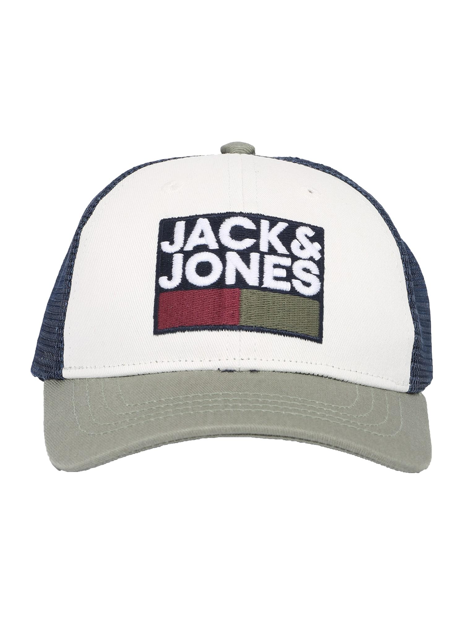 Jack & Jones Junior Skrybėlaitė šviesiai žalia / balta / tamsiai mėlyna / tamsiai raudona