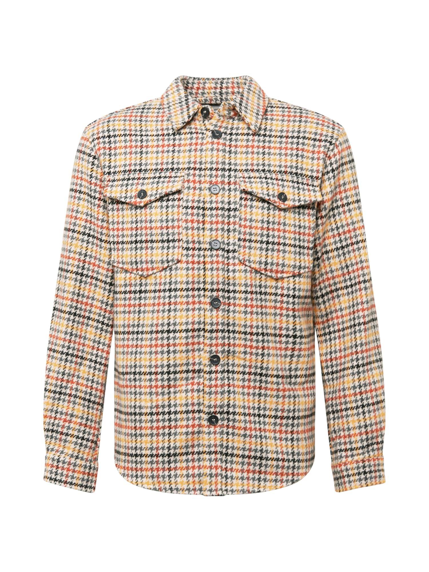 minimum Košile 'Tobi'  oranžově červená / žlutá / béžová / šedá