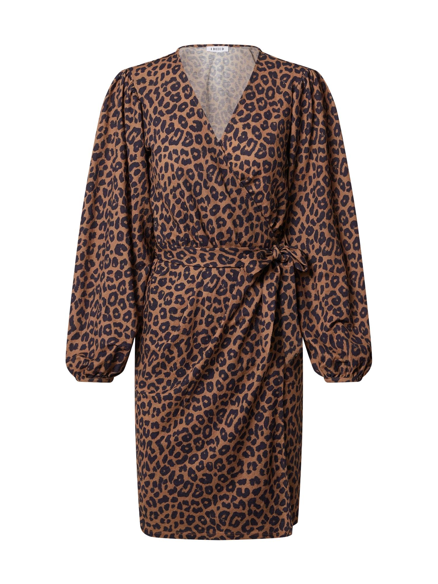 EDITED Suknelė 'Phyllis' juoda / ruda