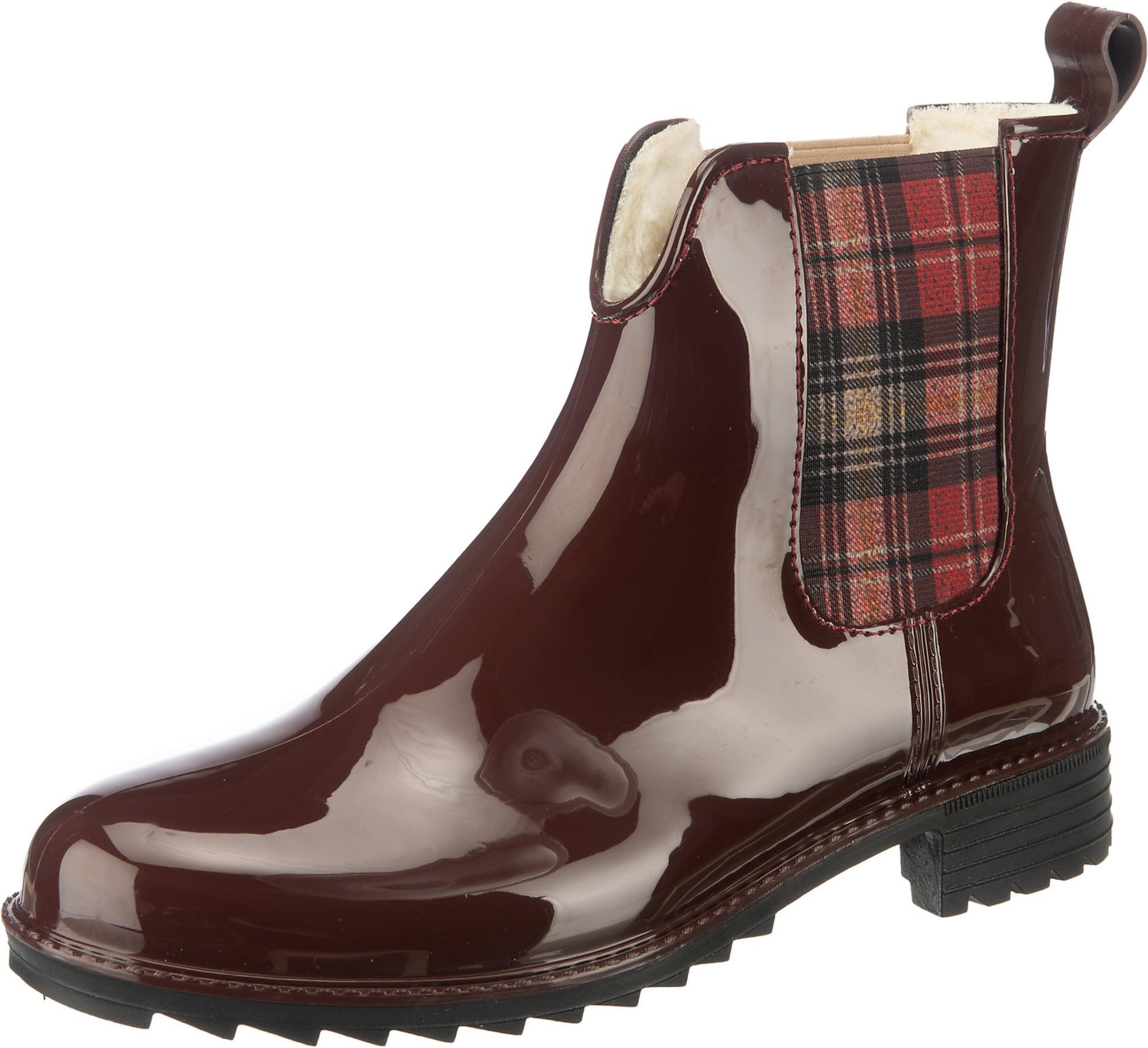 RIEKER Guminiai batai vyno raudona spalva / pastelinė raudona / šviesiai pilka / kremo / juoda