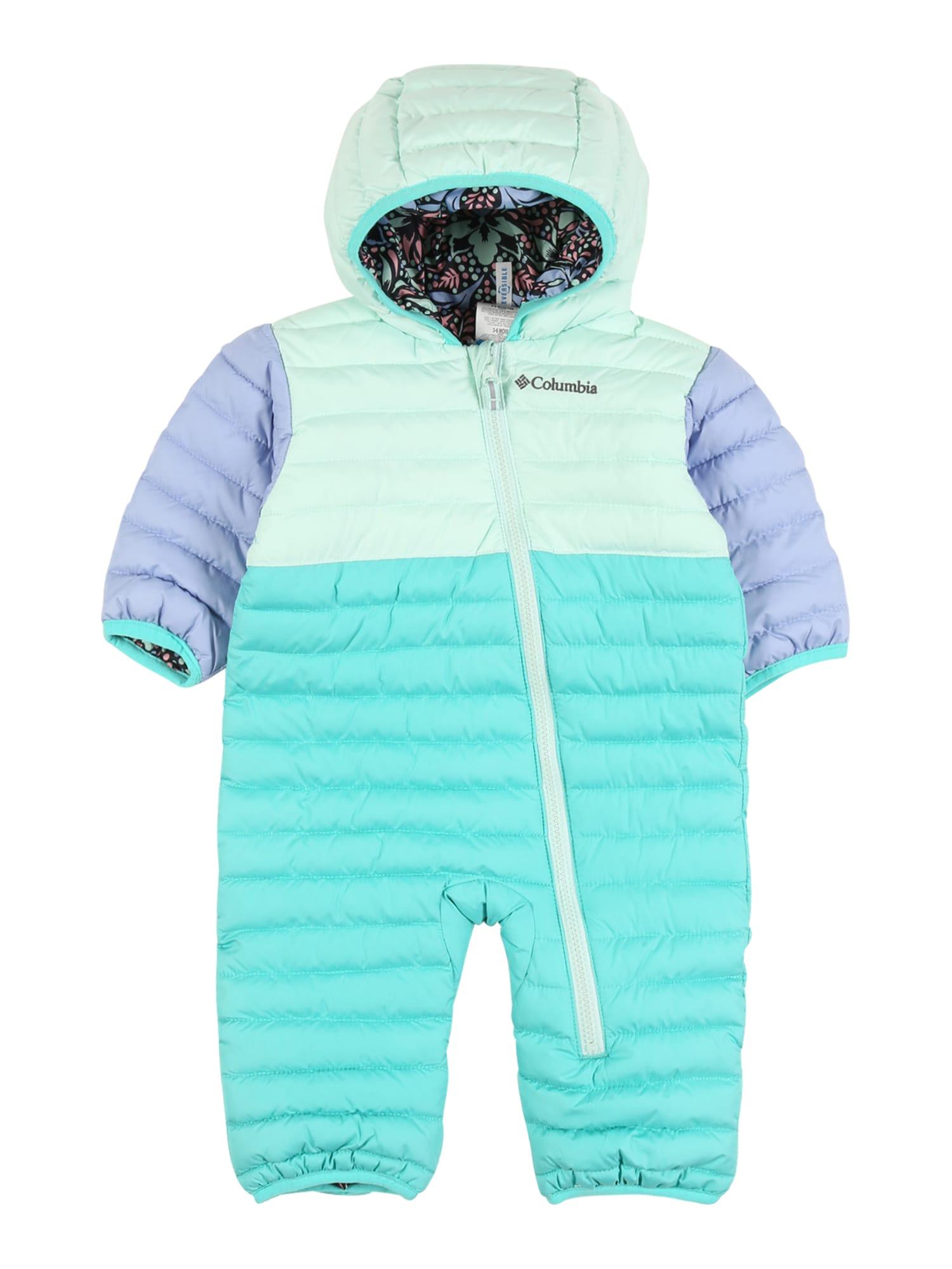 COLUMBIA Sportinis kostiumas turkio spalva / mėlyna dūmų spalva / šviesiai mėlyna