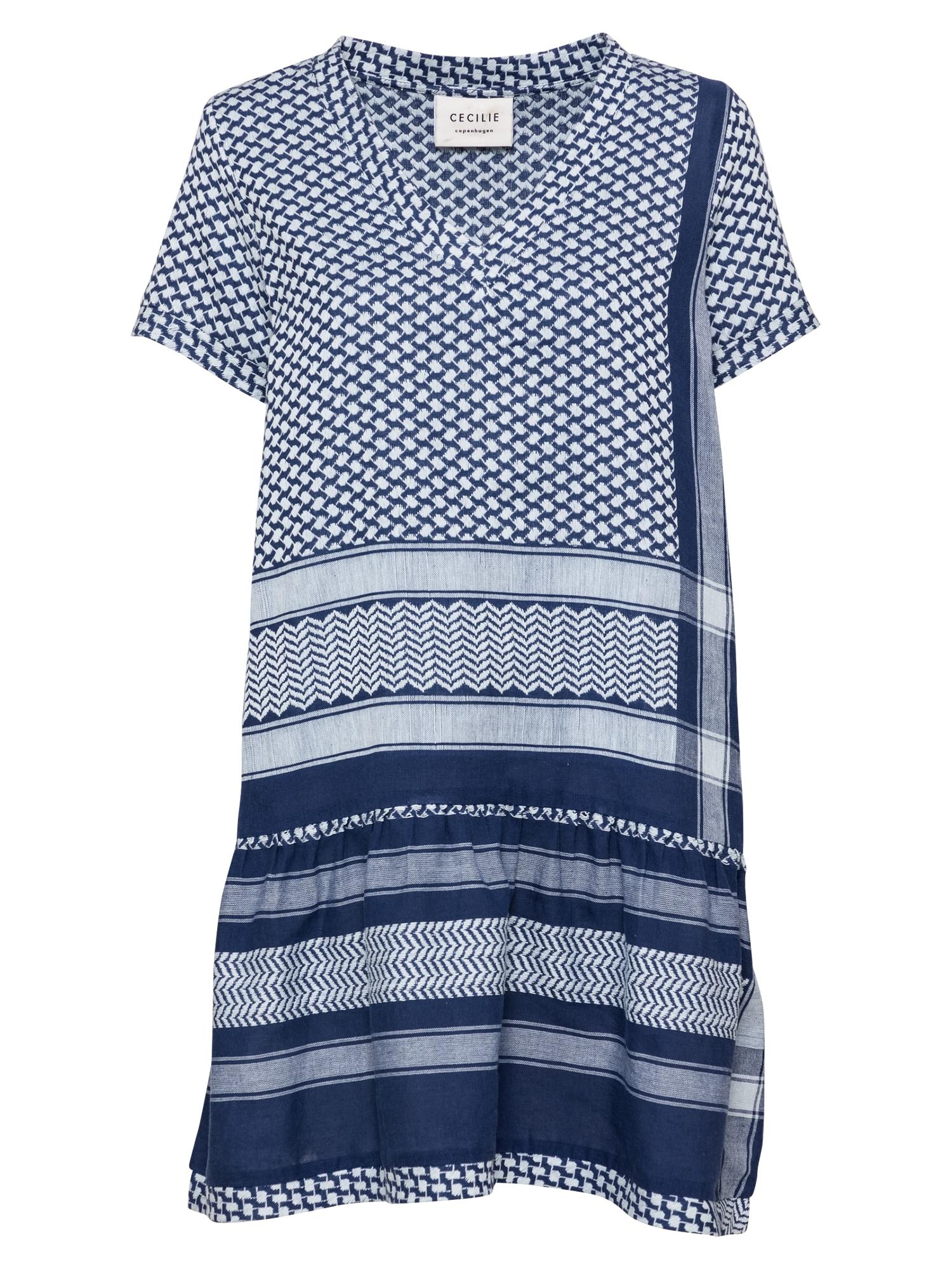 Cecilie Copenhagen Suknelė rausvai pilka / šviesiai mėlyna