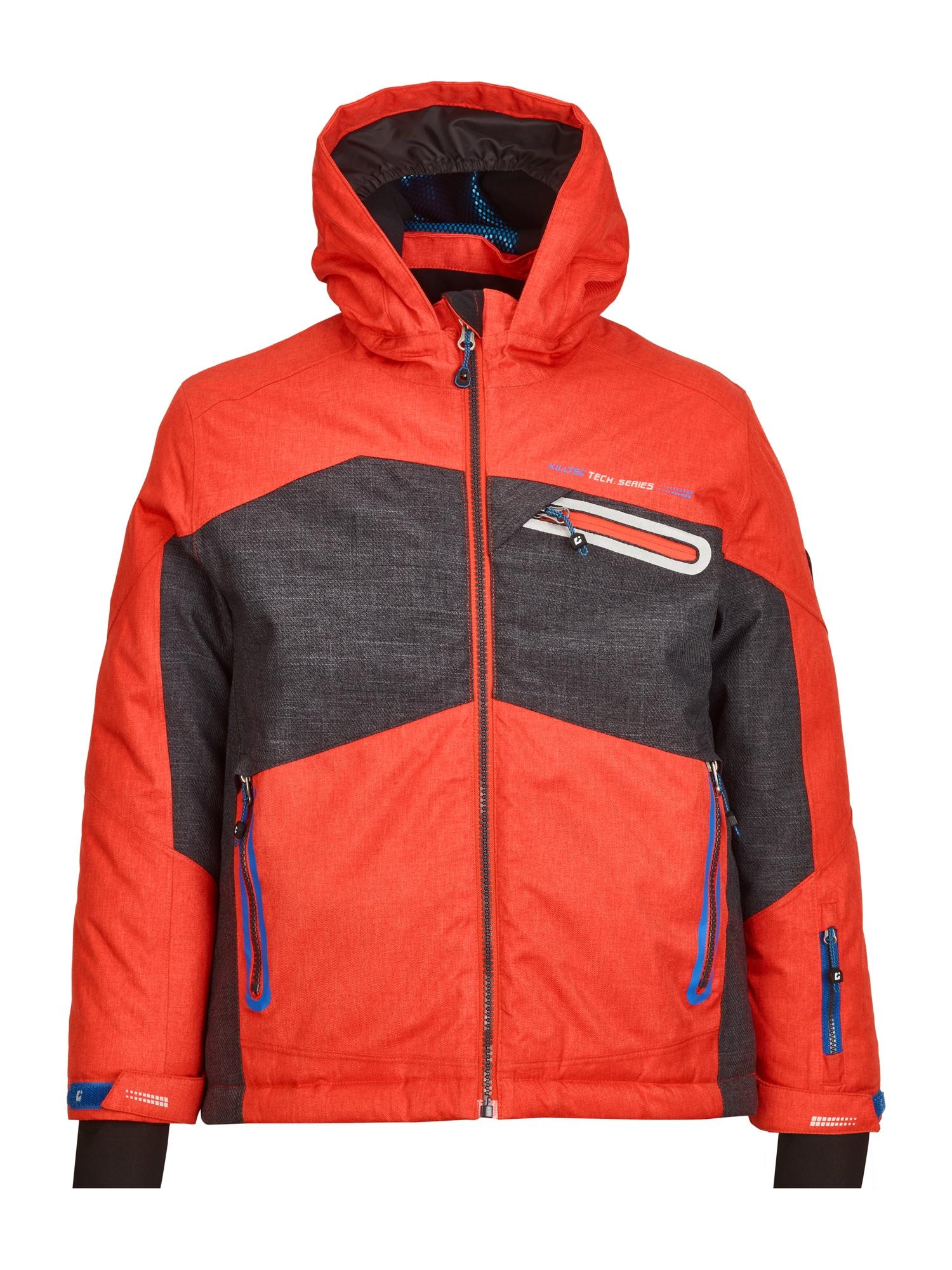 KILLTEC Outdoorová bunda 'Malcom'  antracitová / tmavě oranžová