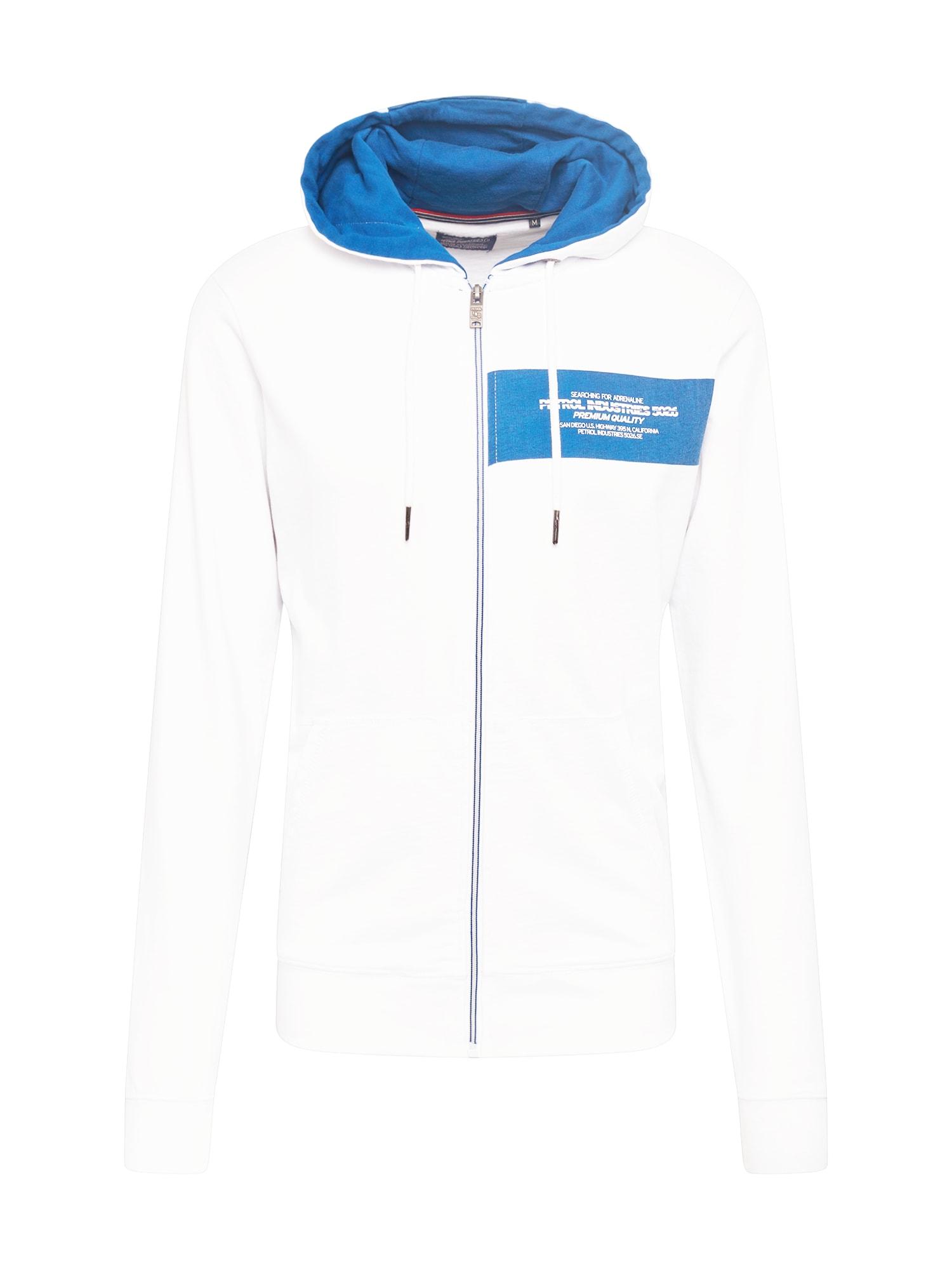 Petrol Industries Džemperis balta / mėlyna