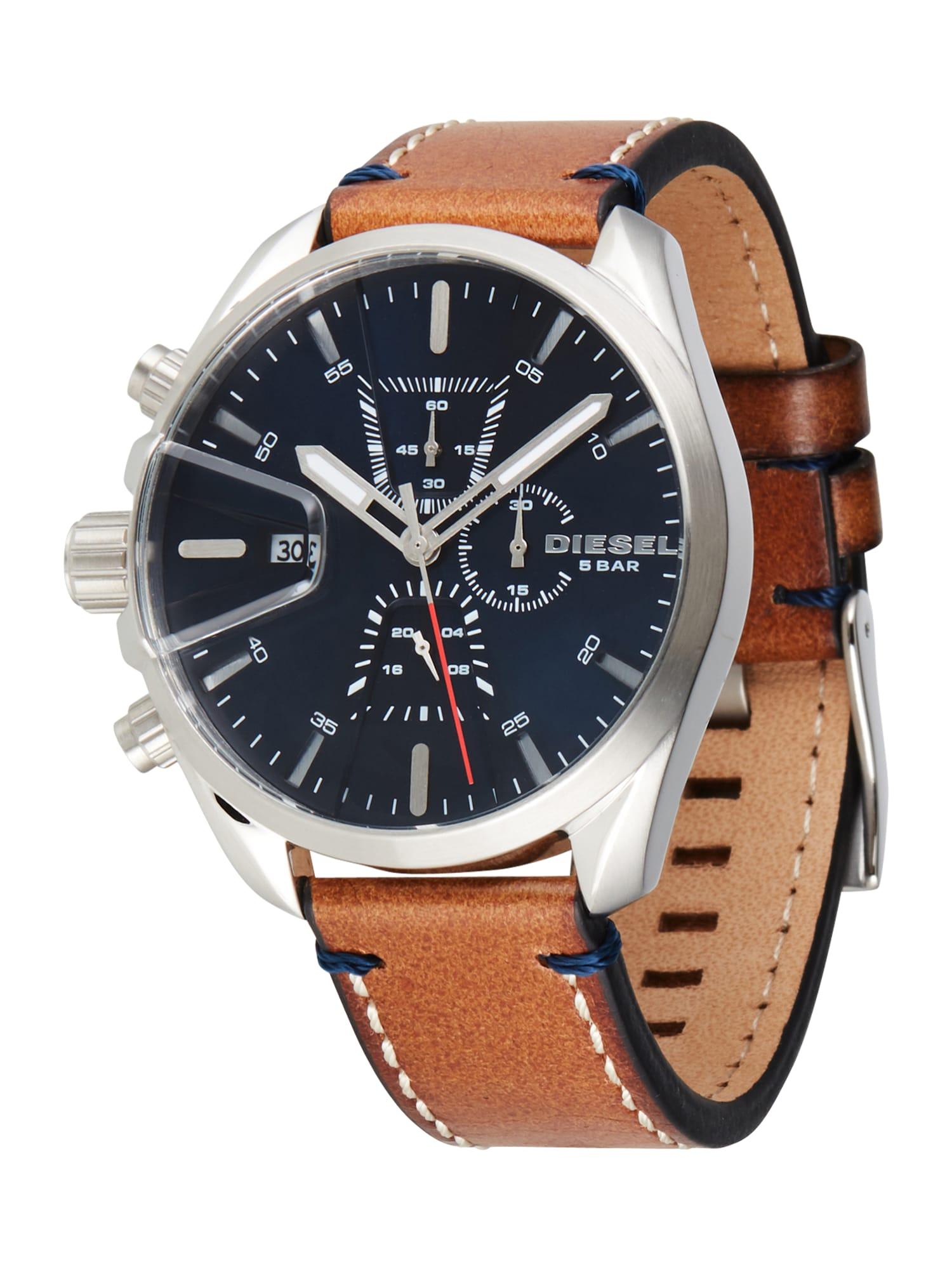 DIESEL Analoginis (įprasto dizaino) laikrodis tamsiai mėlyna / ruda / sidabrinė