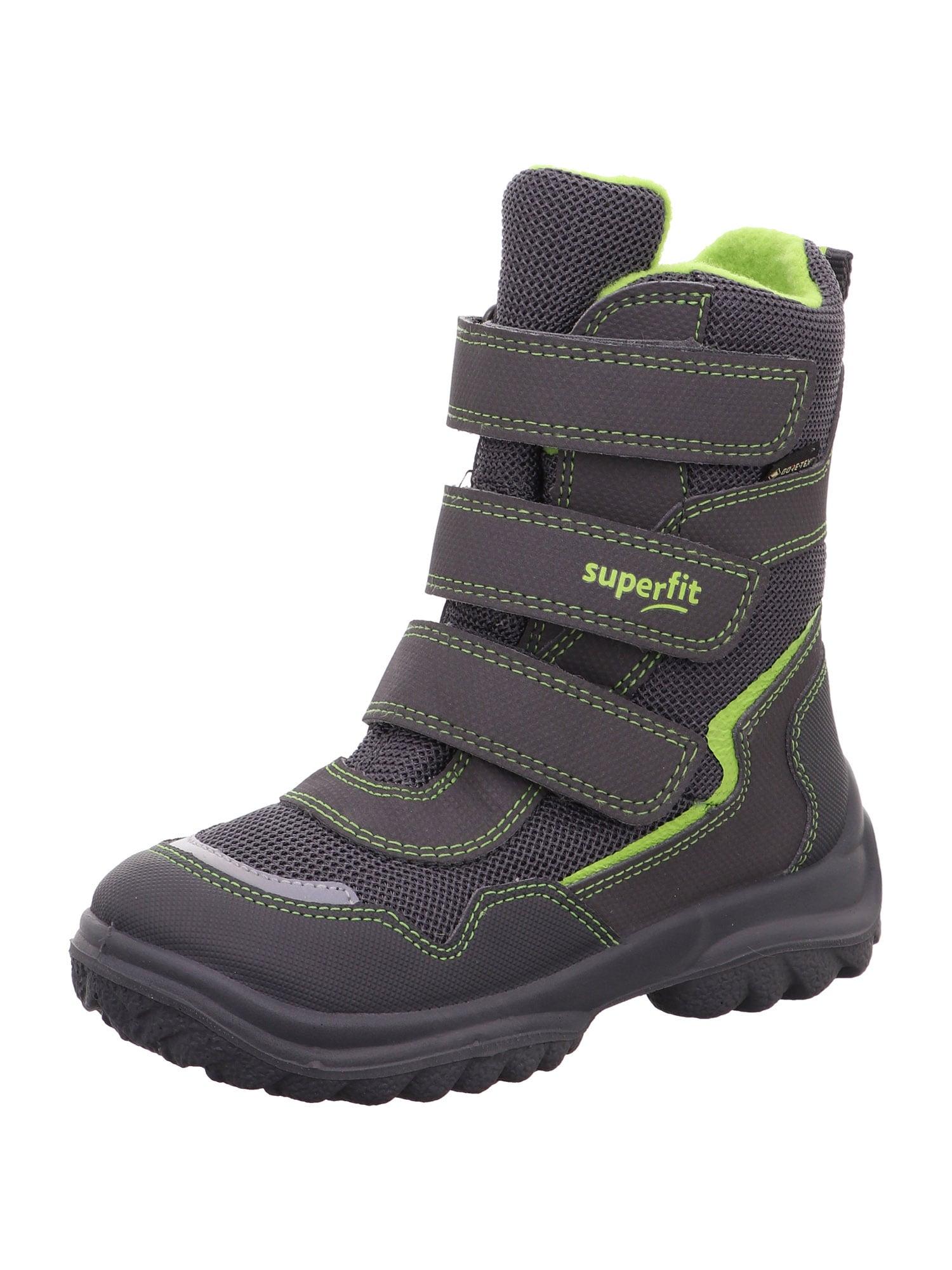 SUPERFIT Sniego batai 'SNOWCAT' pilka / neoninė žalia