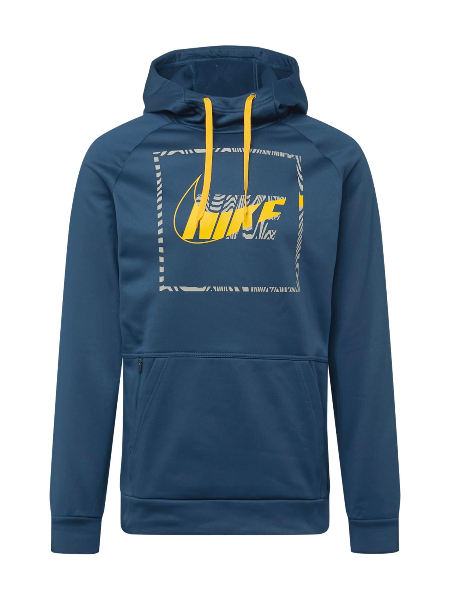 NIKE Sportinio tipo megztinis geltona / tamsiai mėlyna