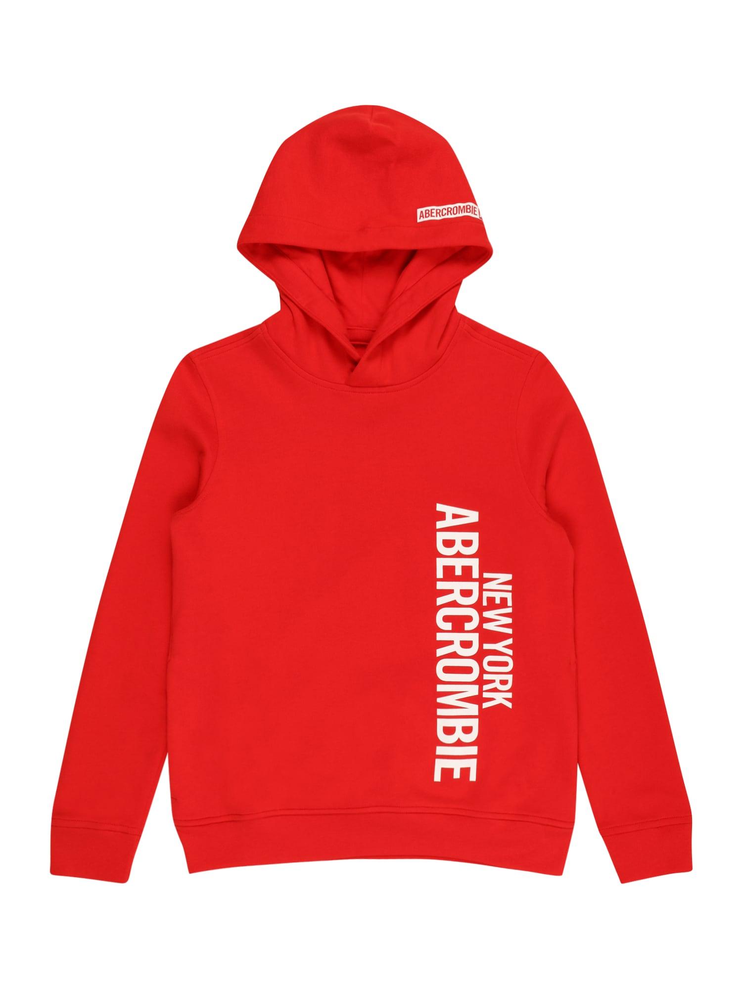 Abercrombie & Fitch Megztinis be užsegimo raudona / balta