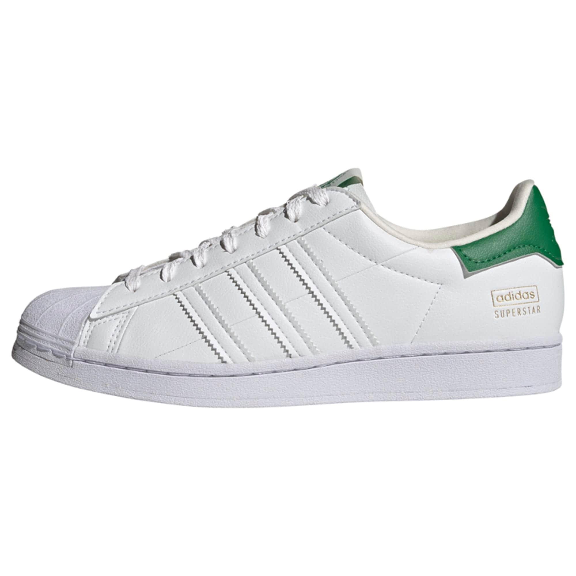 ADIDAS ORIGINALS Tenisky 'Superstar'  zelená / bílá / zlatá