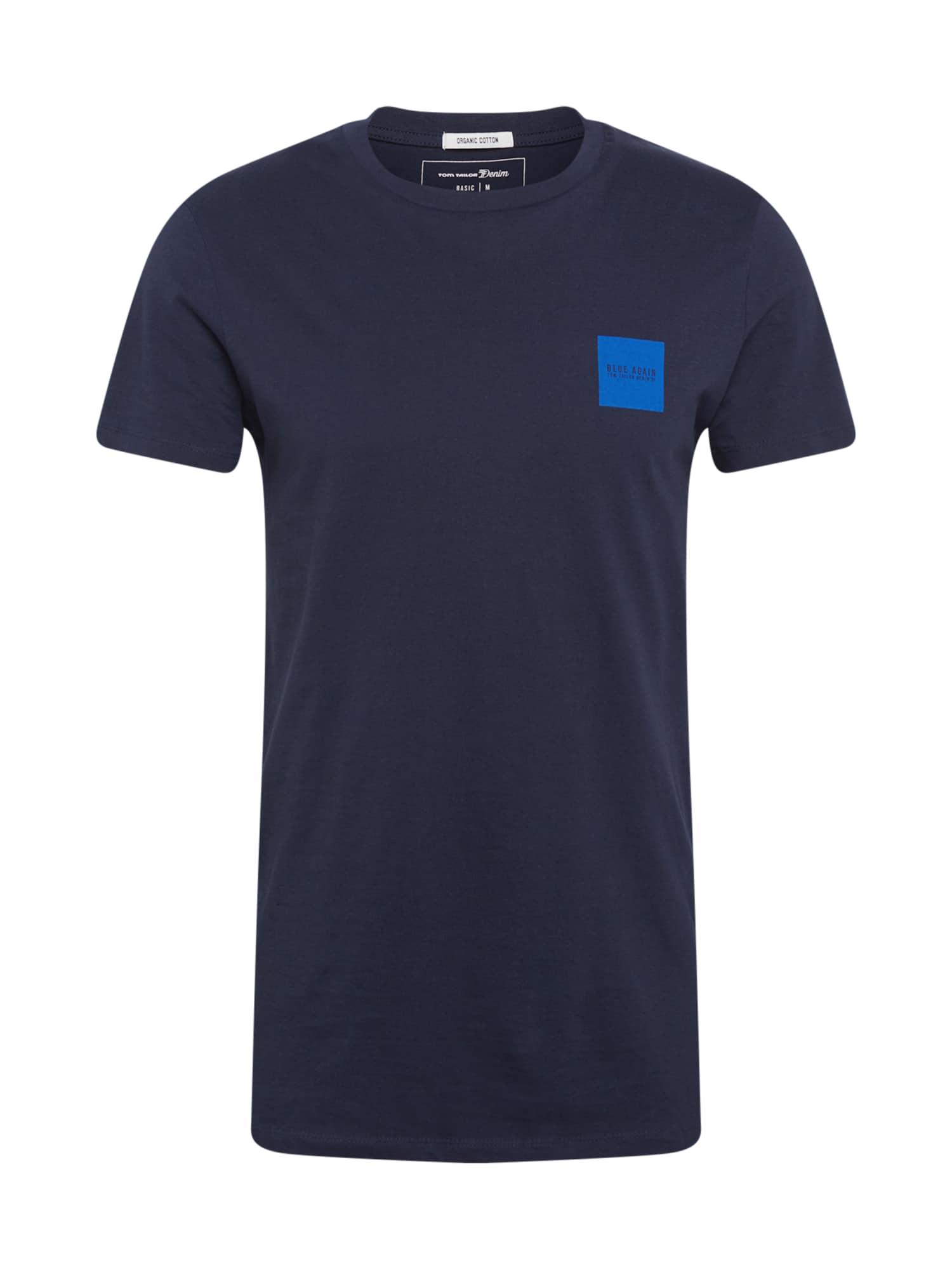 TOM TAILOR DENIM Tričko  tmavě modrá