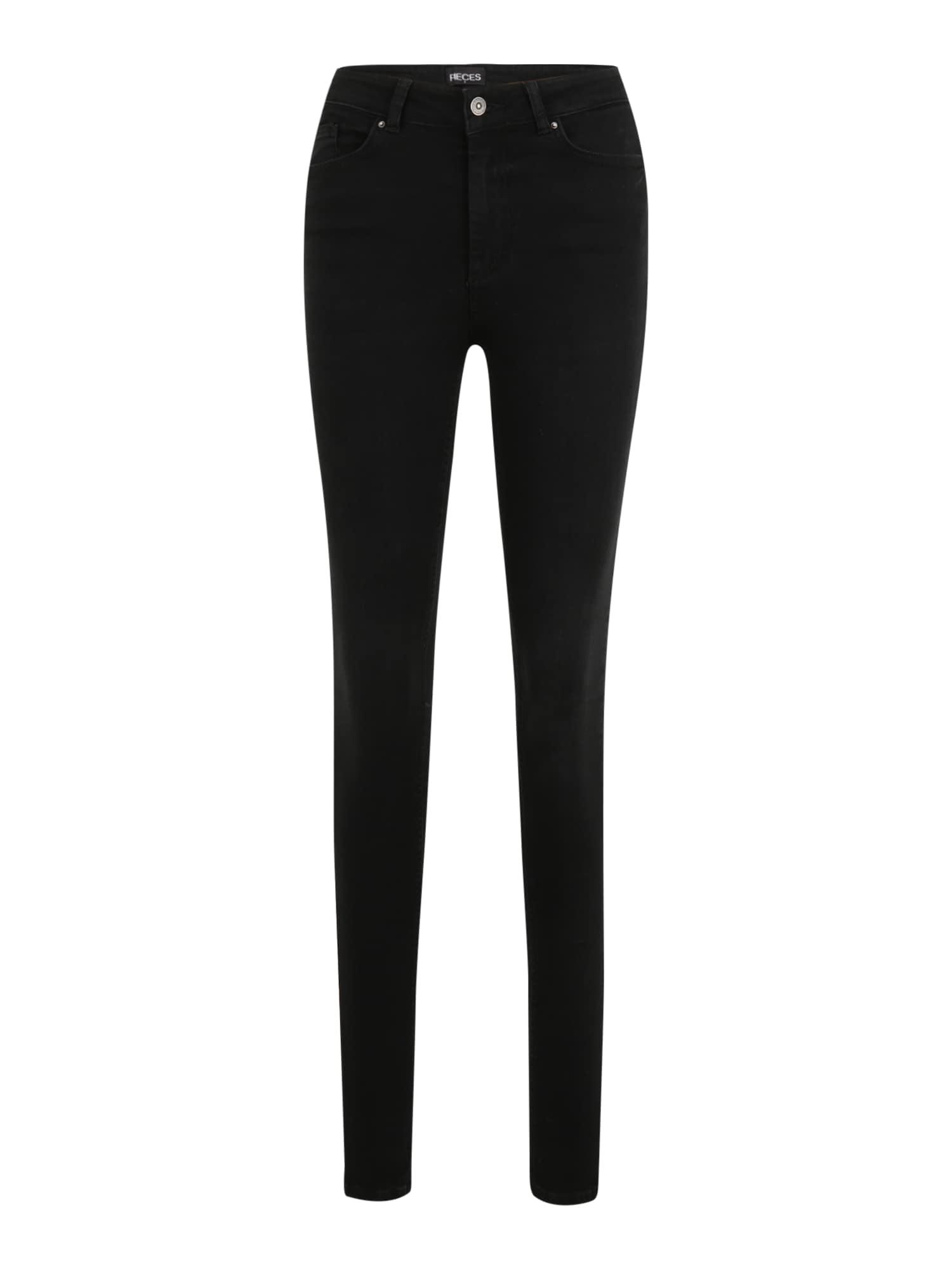 Pieces Tall Džinsai juodo džinso spalva
