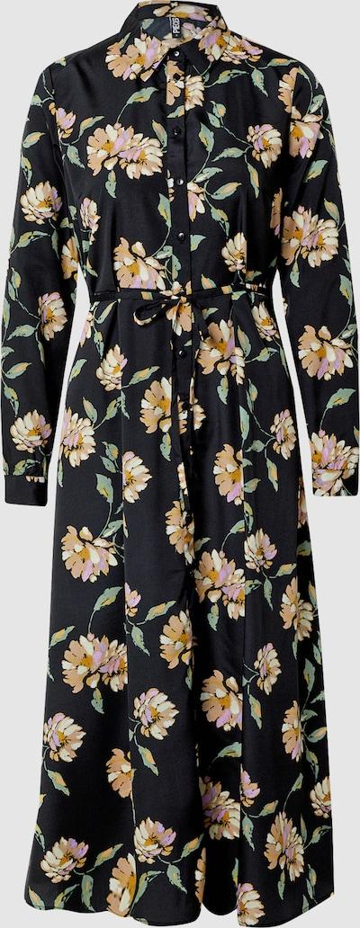 Pieces Gyllian Langärmeliges Midi-Kleid mit Blumenmotiv