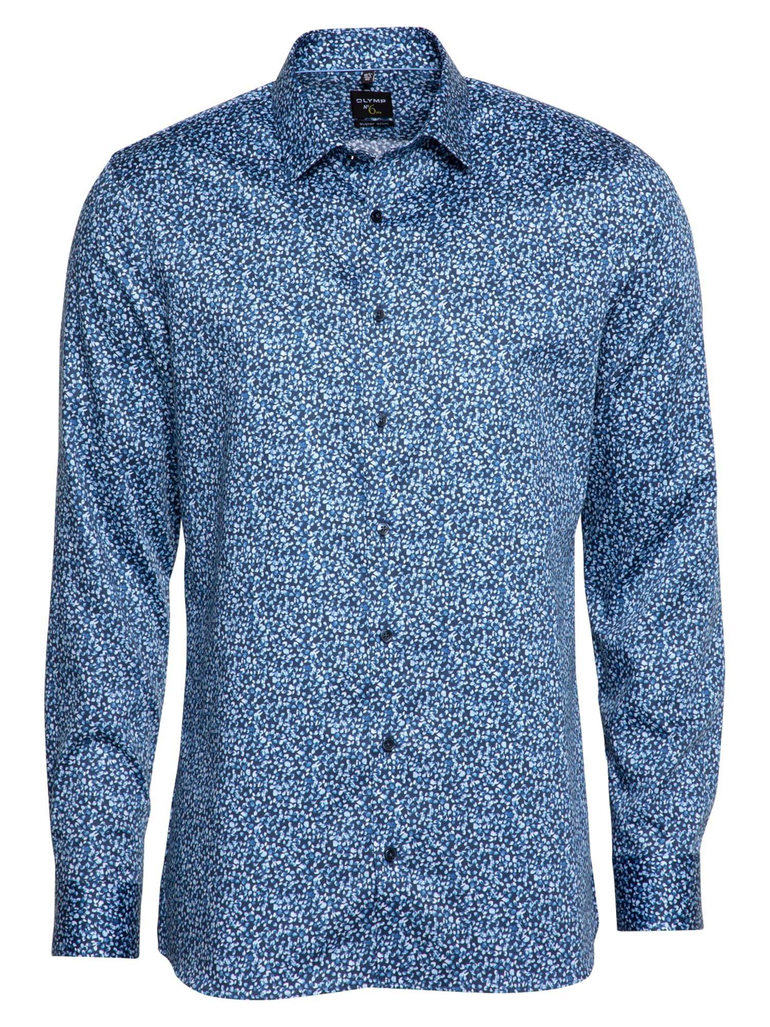 OLYMP Marškiniai tamsiai mėlyna jūros spalva / šviesiai mėlyna / mėlyna dūmų spalva