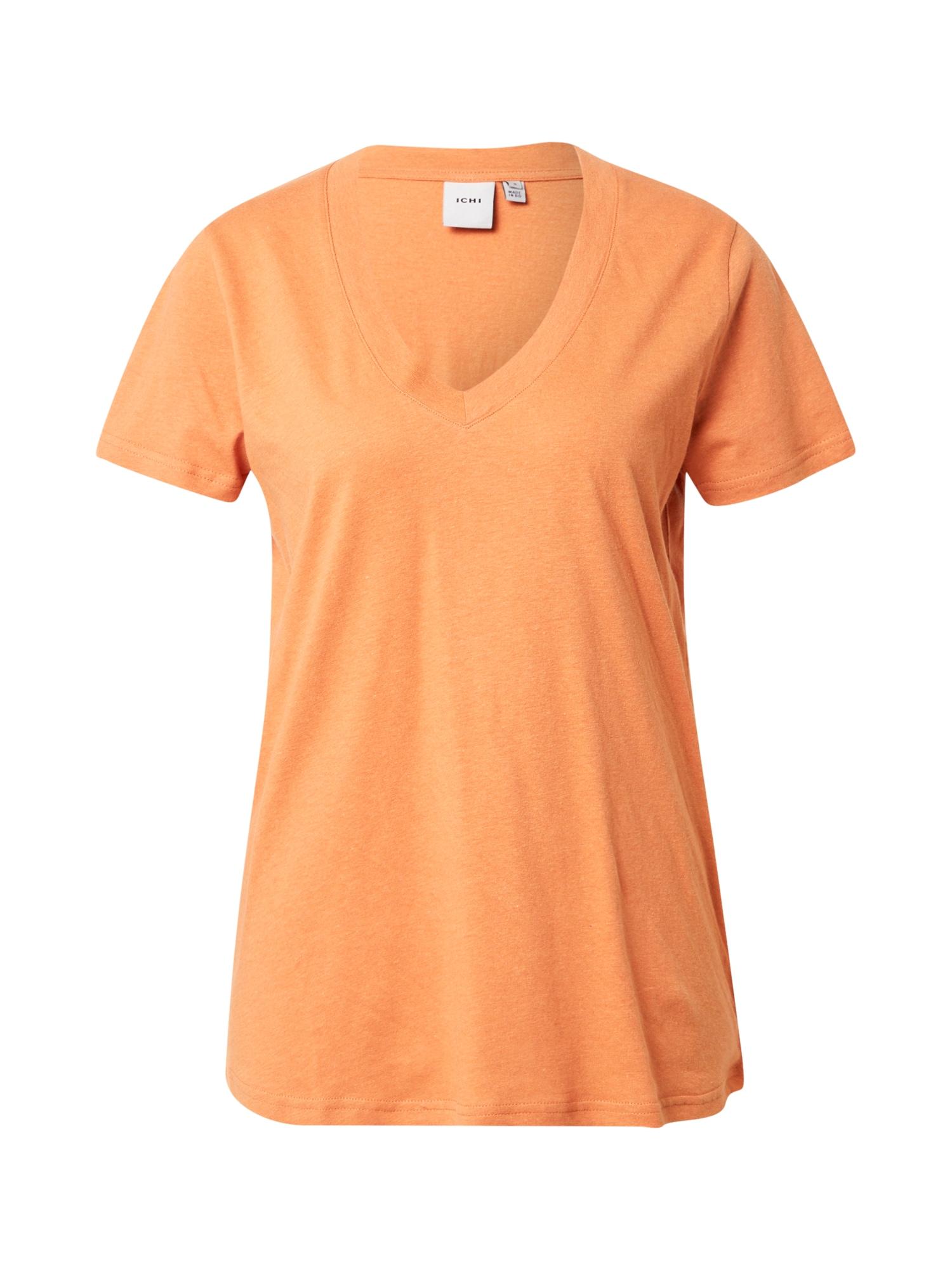 ICHI Marškinėliai ruda (konjako)