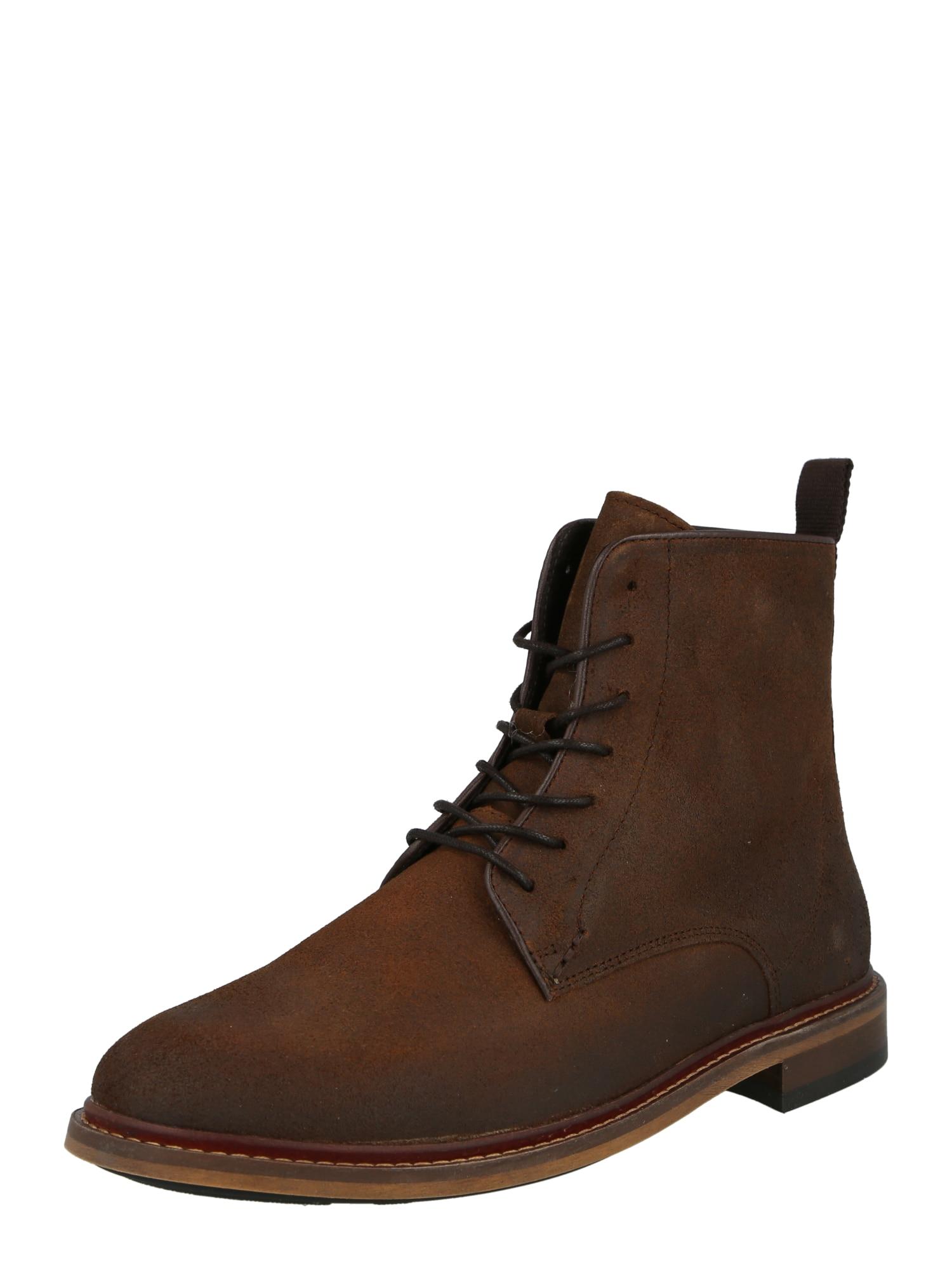 Shoe The Bear Suvarstomieji batai tamsiai ruda