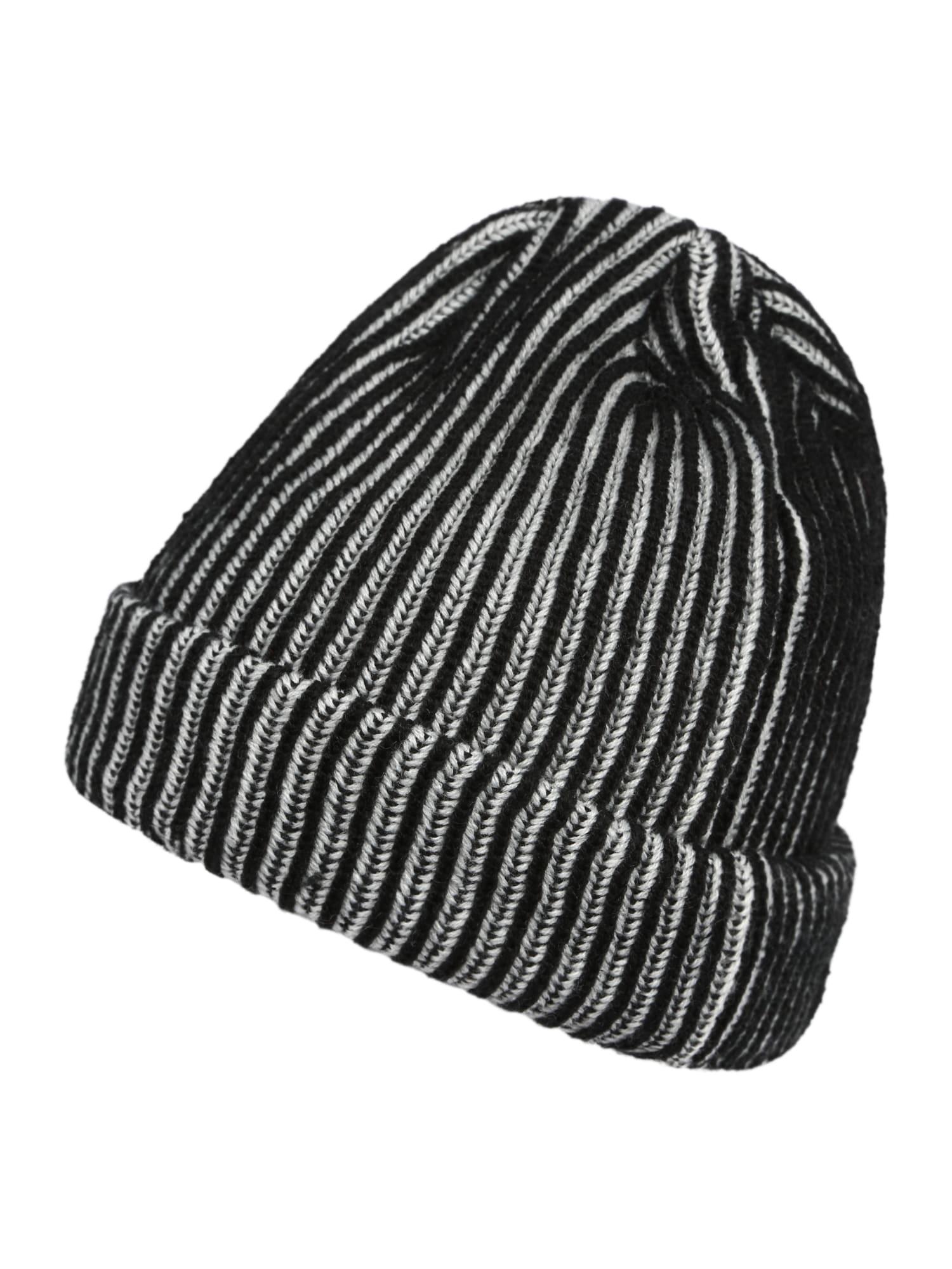 BRUNO BANANI Megzta kepurė margai juoda