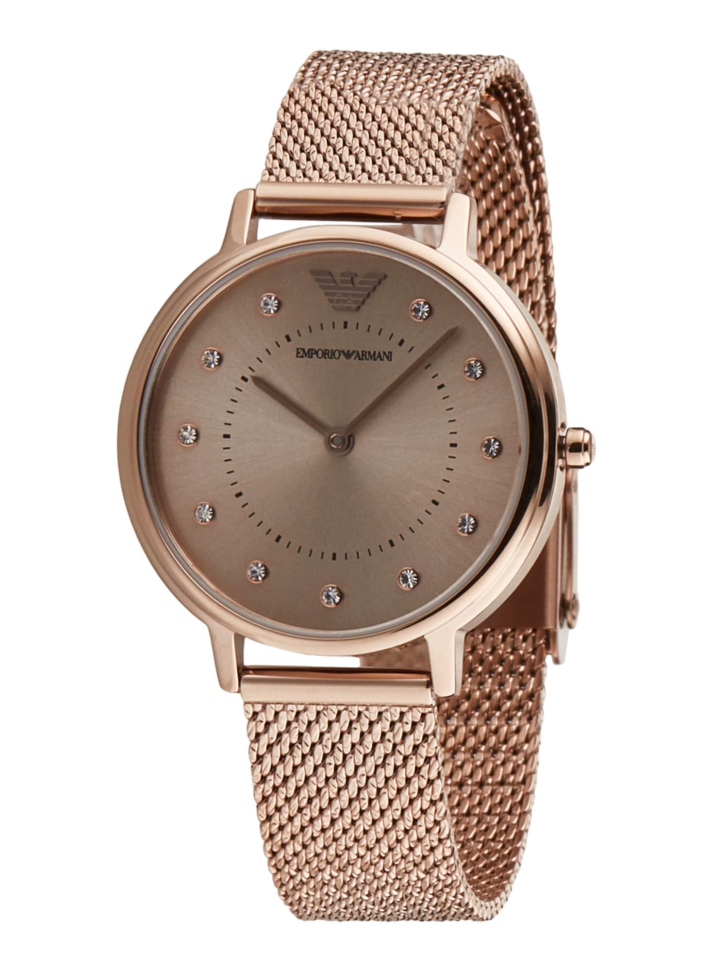 Emporio Armani Analoginis (įprasto dizaino) laikrodis rožinio aukso spalva