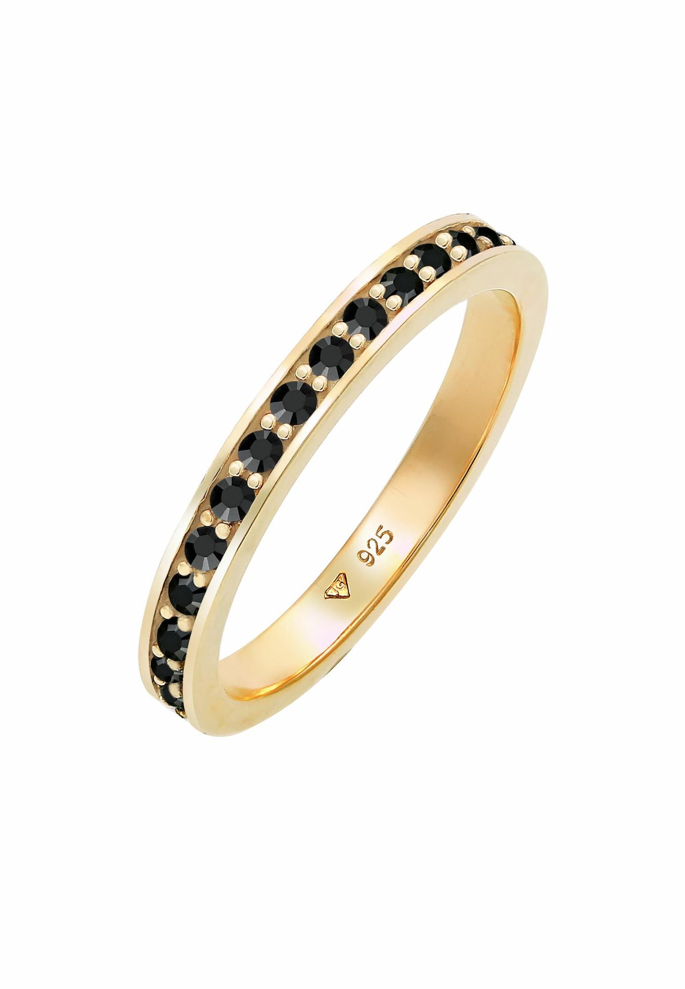 ELLI Žiedas juoda / auksas