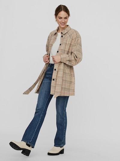 Vero Moda Zella Langärmelige Karo-Hemdjacke mit Gürtel