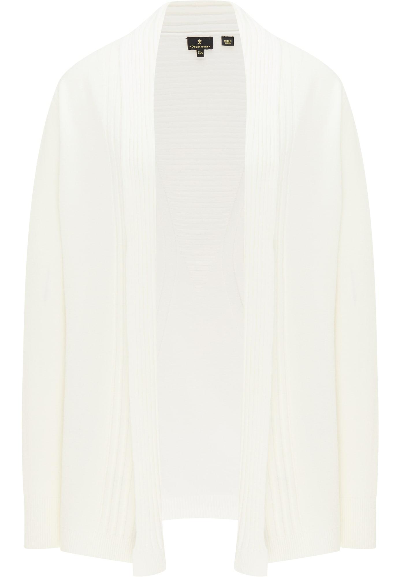 DreiMaster Klassik Kardiganas vilnos balta