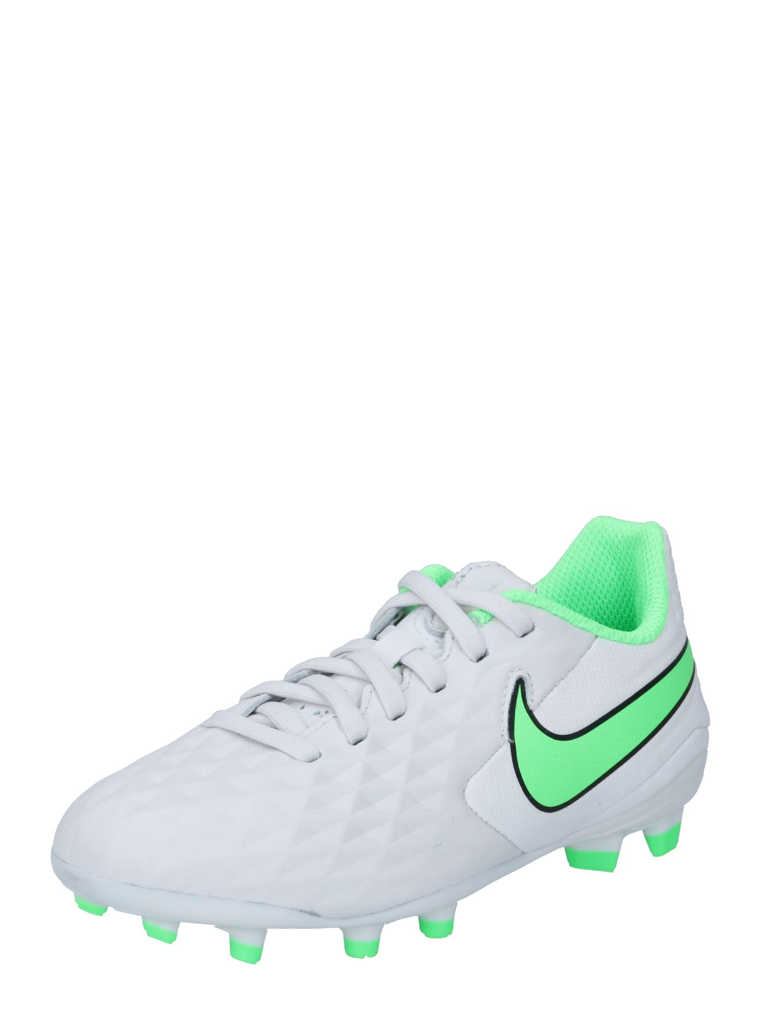 NIKE Sportiniai batai 'Tiempo Legend 8 Academy' balta / neoninė žalia