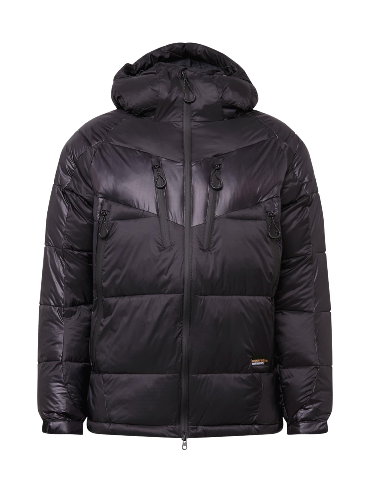 Superdry Snow Outdoorová bunda  černá