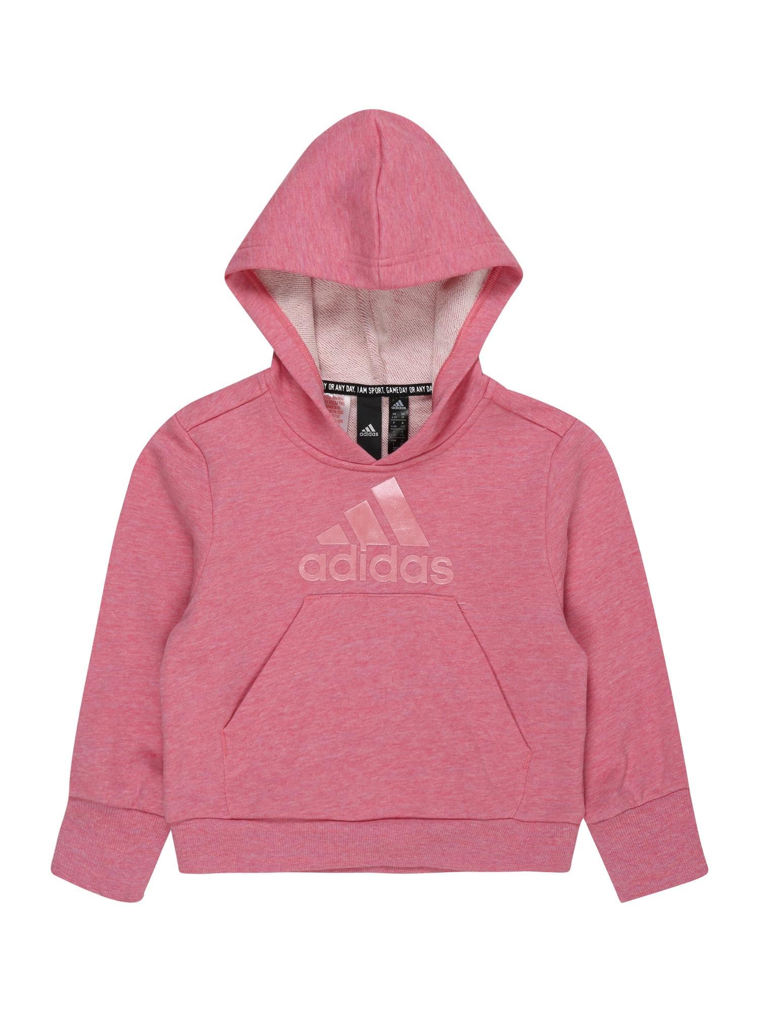 ADIDAS PERFORMANCE Sportinio tipo megztinis rožių spalva / margai rožinė