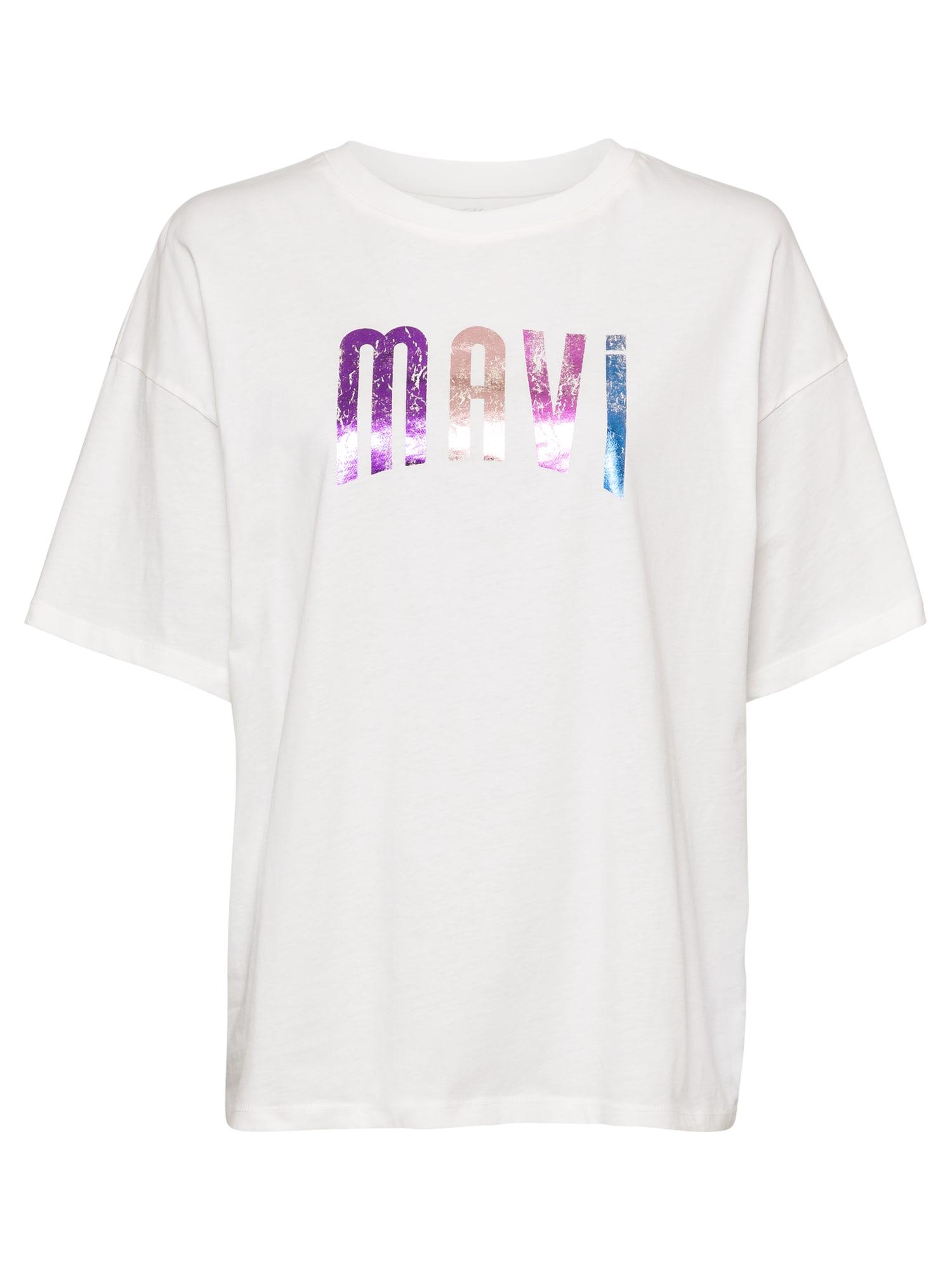 Mavi Laisvi marškinėliai balta / purpurinė / rožių spalva / mėlyna
