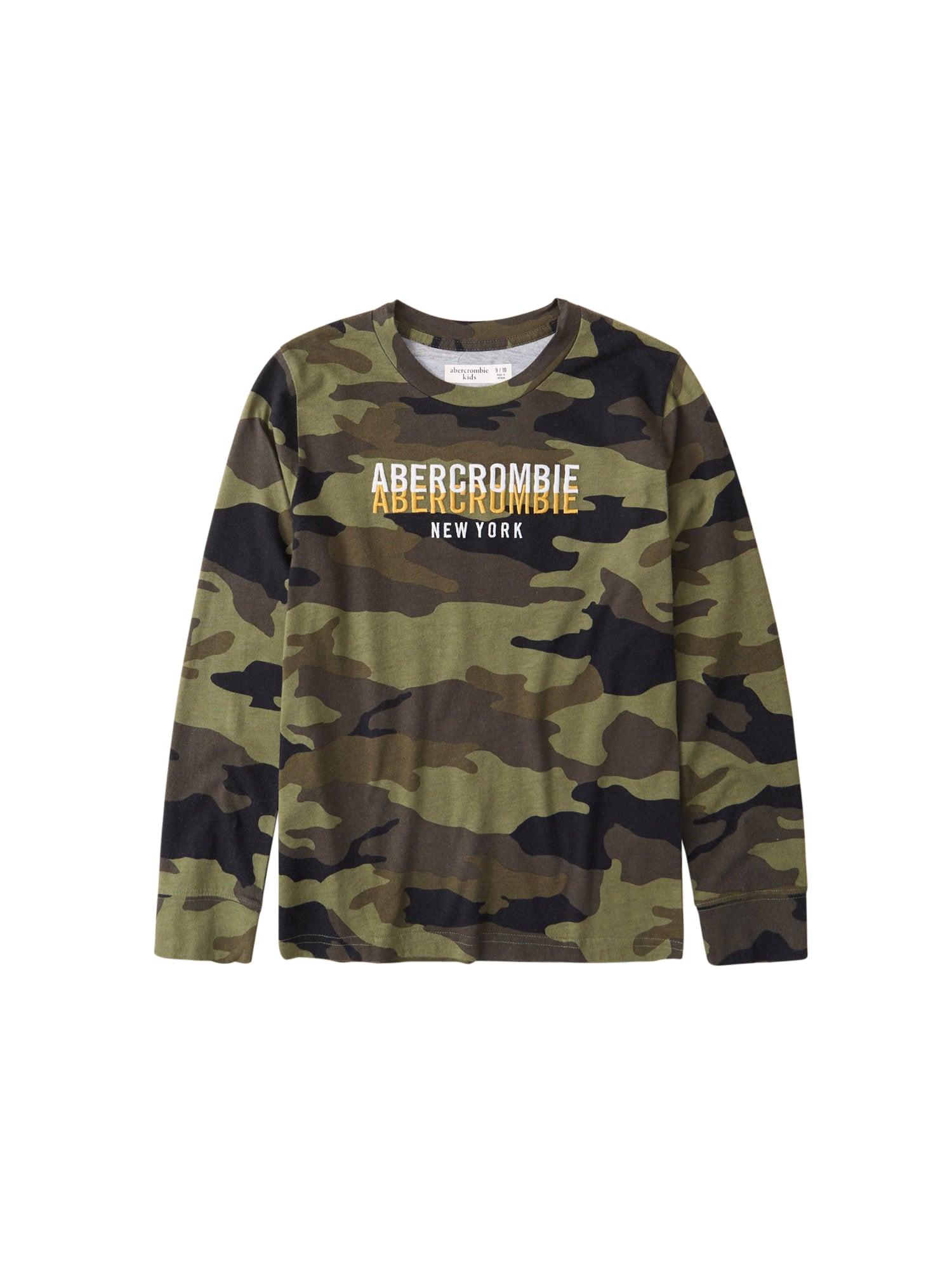 Abercrombie & Fitch Marškinėliai tamsiai žalia / ruda / kaštoninė spalva / alyvuogių spalva / balta