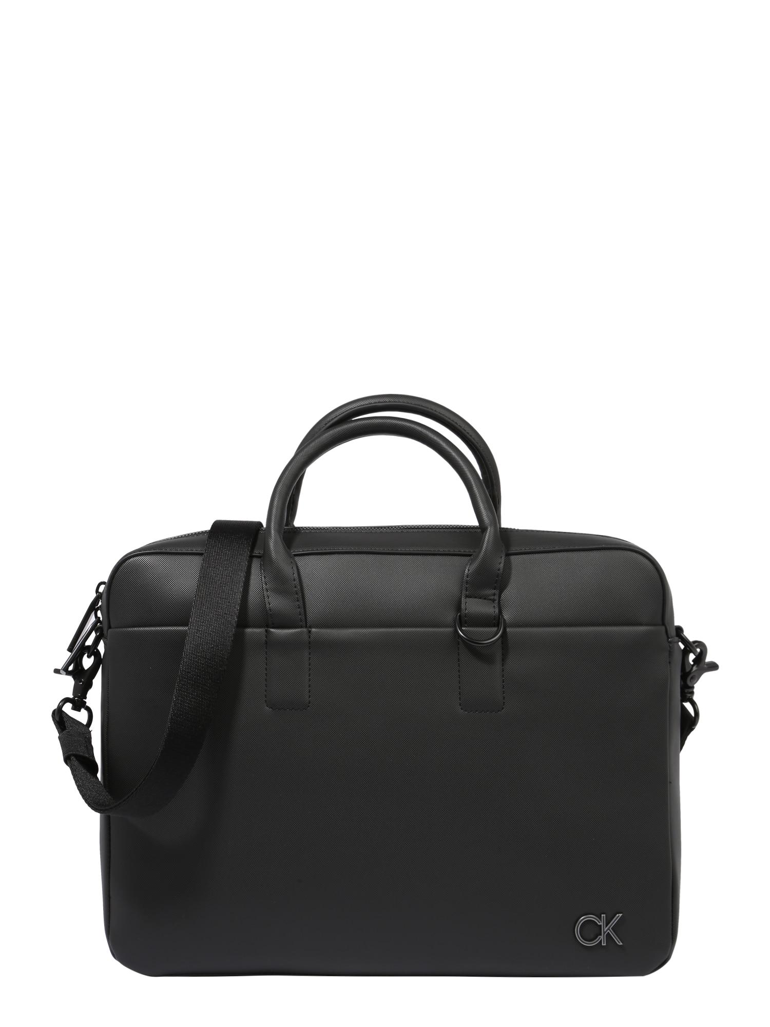 Calvin Klein Nešiojamo kompiuterio krepšys juoda