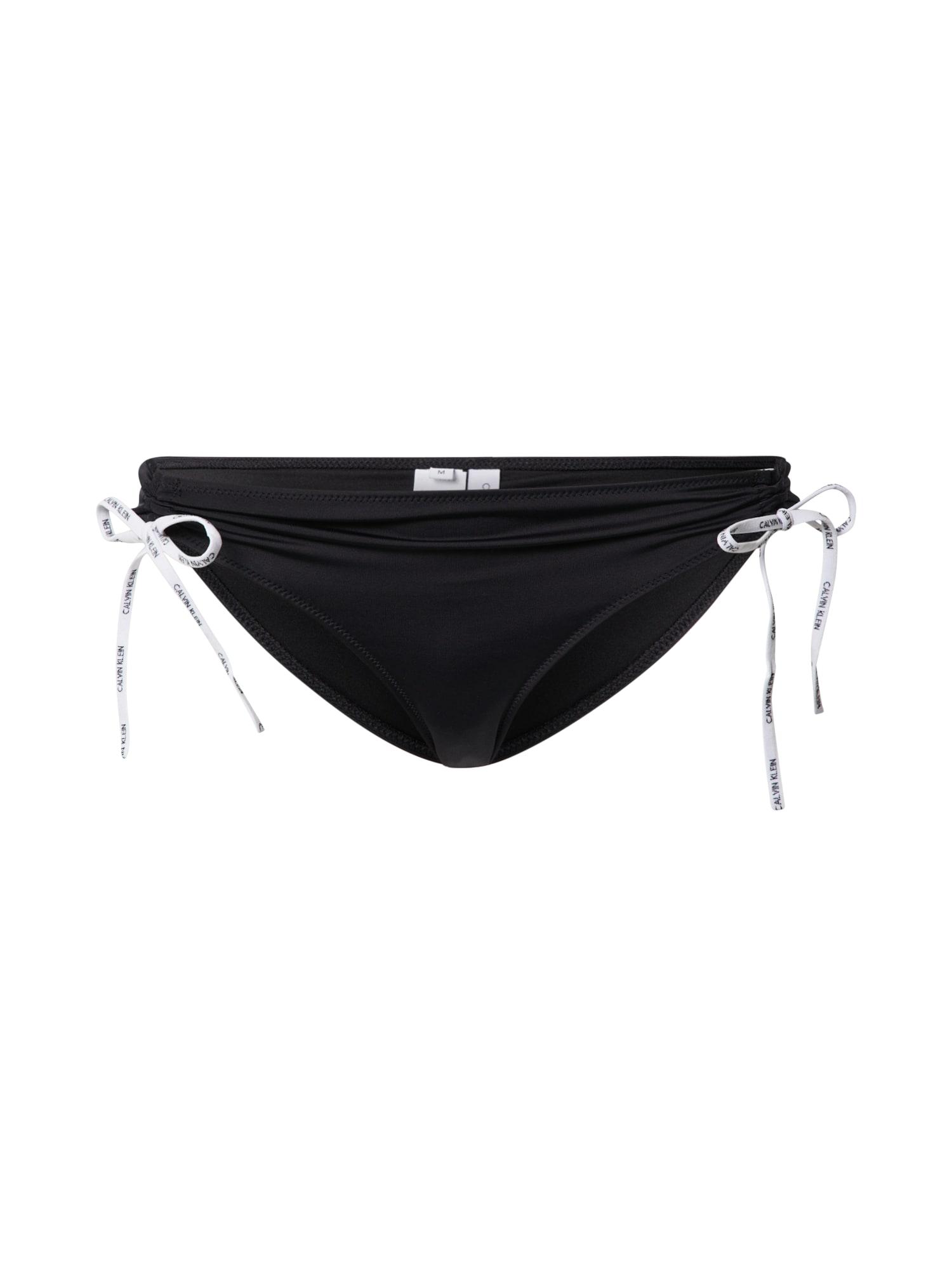 Calvin Klein Swimwear Bikinio kelnaitės juoda / balta