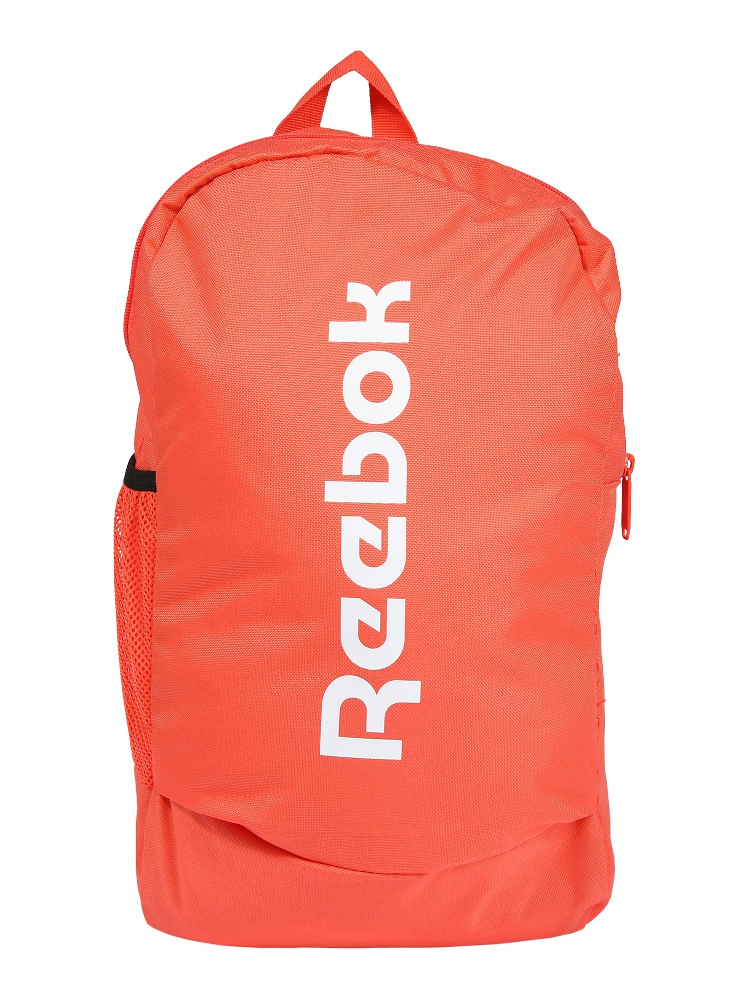 REEBOK Sportinė kuprinė oranžinė / balta
