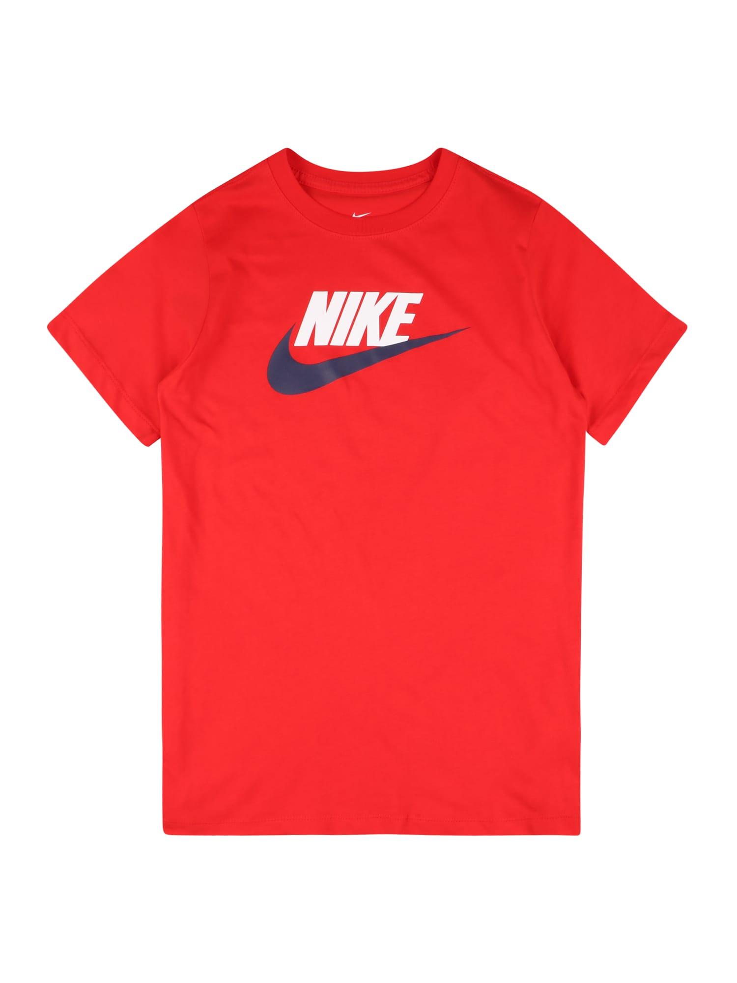 Nike Sportswear Tričko 'FUTURA'  bílá / červená / námořnická modř