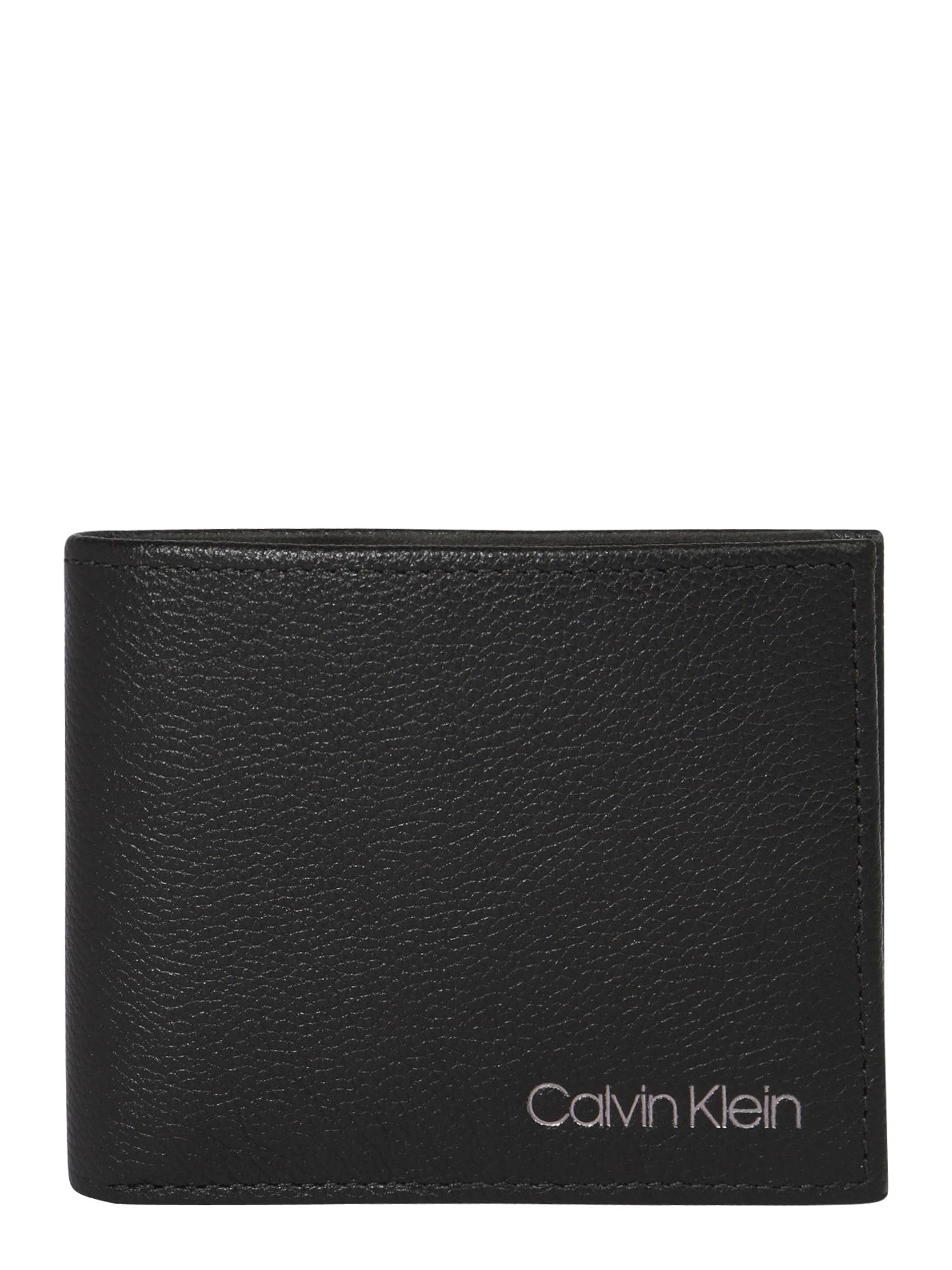 Calvin Klein Piniginė 'Bill' juoda / sidabrinė