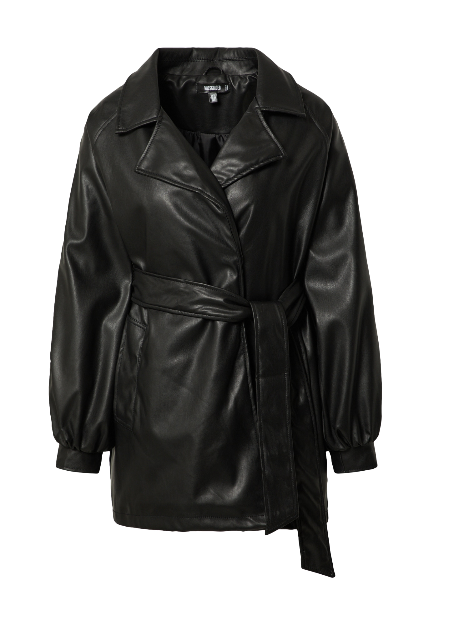 Missguided Demisezoninis paltas juoda