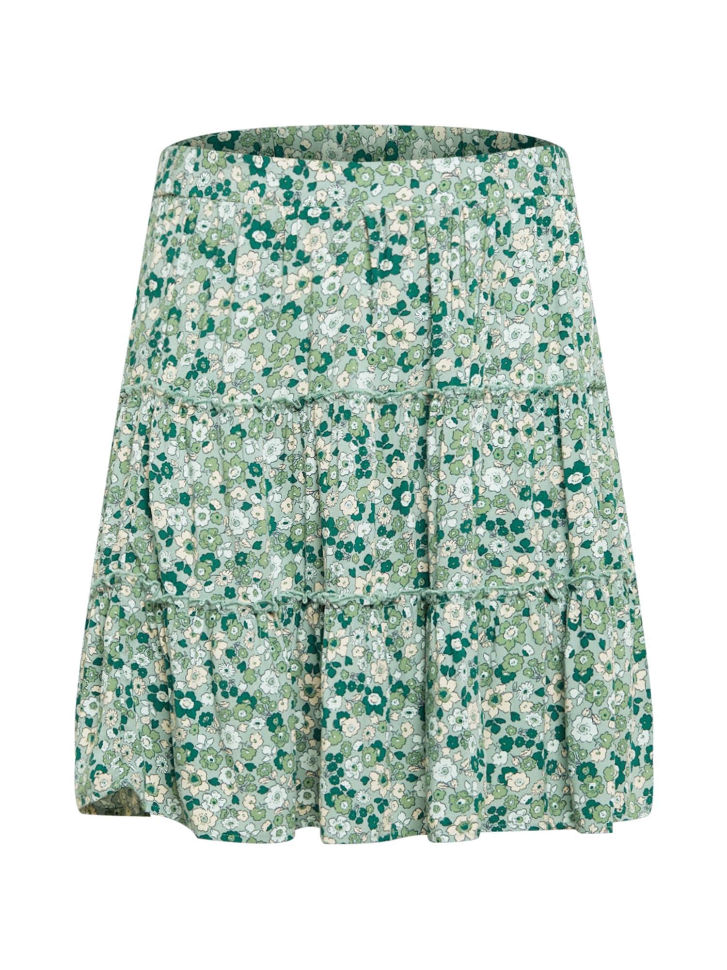 Cotton On Curve Sijonas žalia / mėtų spalva / smėlio