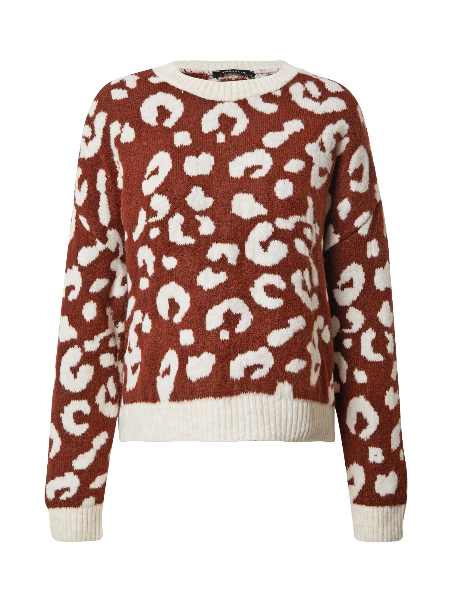 Trendyol Megztinis balta / ruda