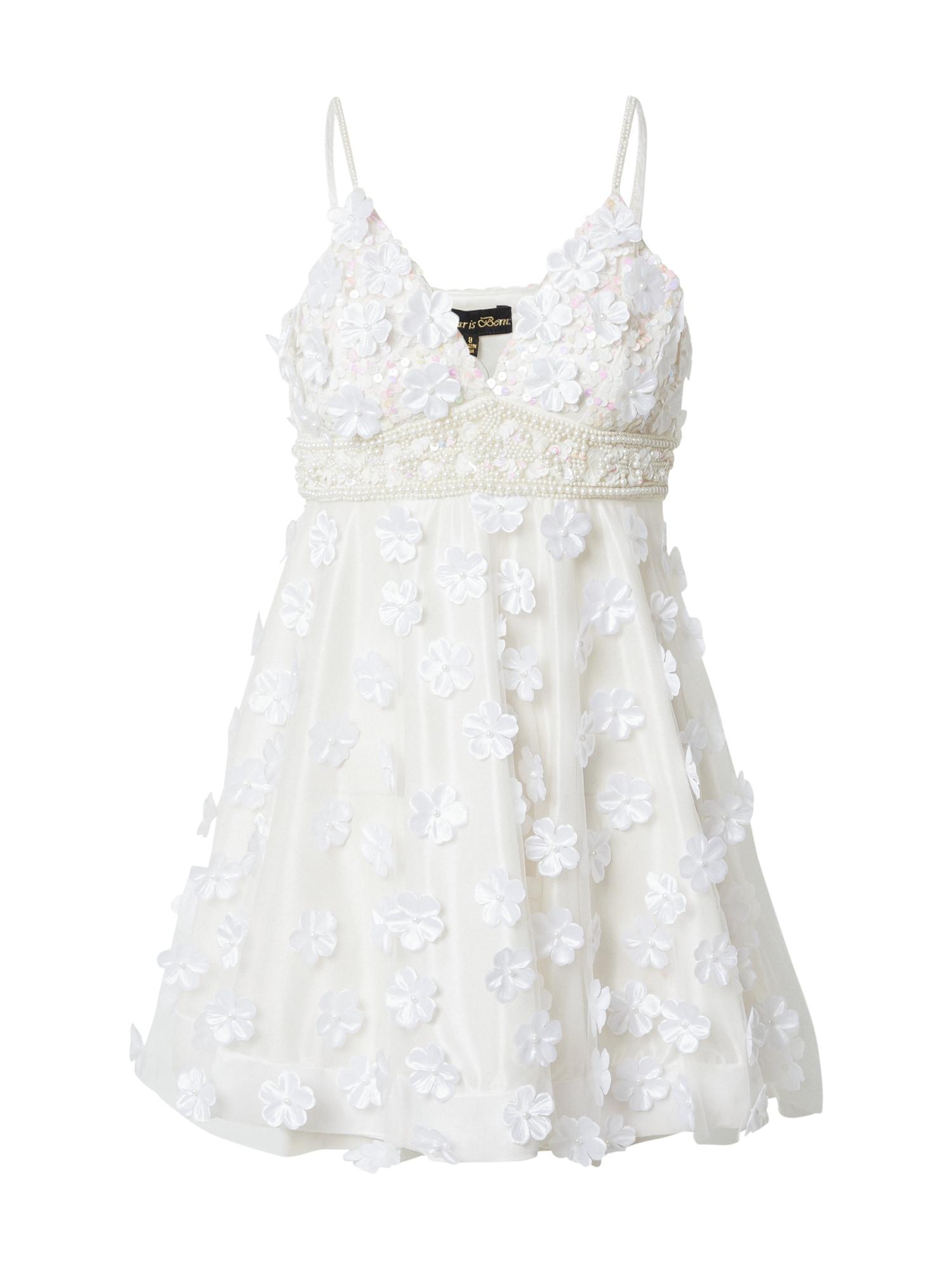A STAR IS BORN Kokteilinė suknelė perlų balta / pastelinė rožinė / levandų spalva