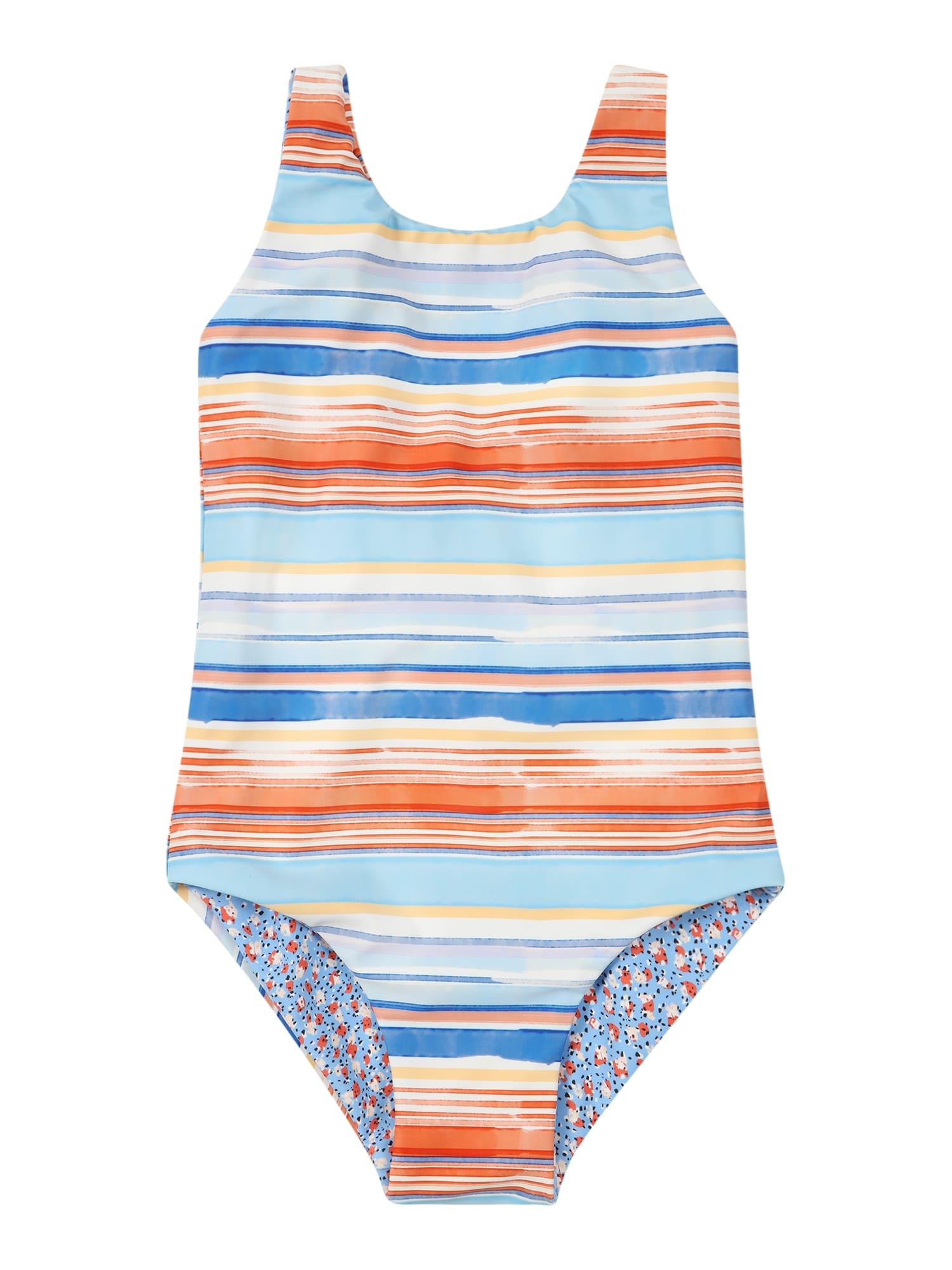 Seafolly Plavky  světlemodrá / nebeská modř / žlutá / bílá / tmavě oranžová