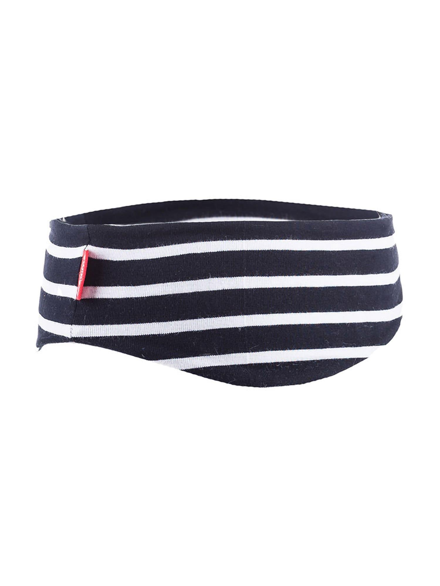 MAXIMO Megzta kepurė balta / tamsiai mėlyna