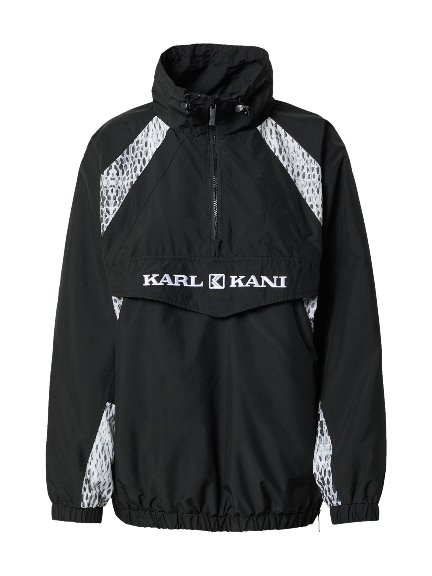 Karl Kani Demisezoninė striukė juoda / balta