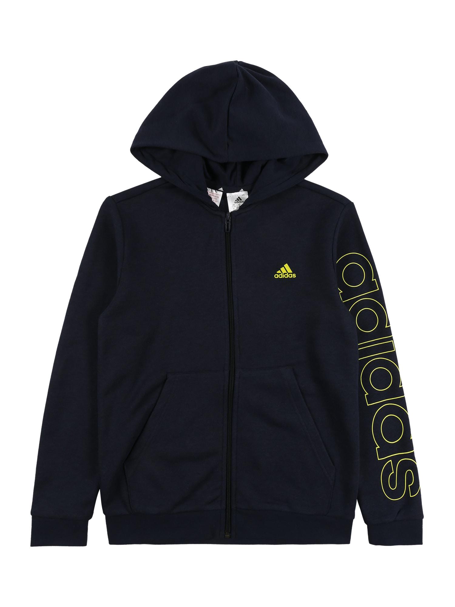 ADIDAS PERFORMANCE Sportinis džemperis juoda / šviesiai geltona