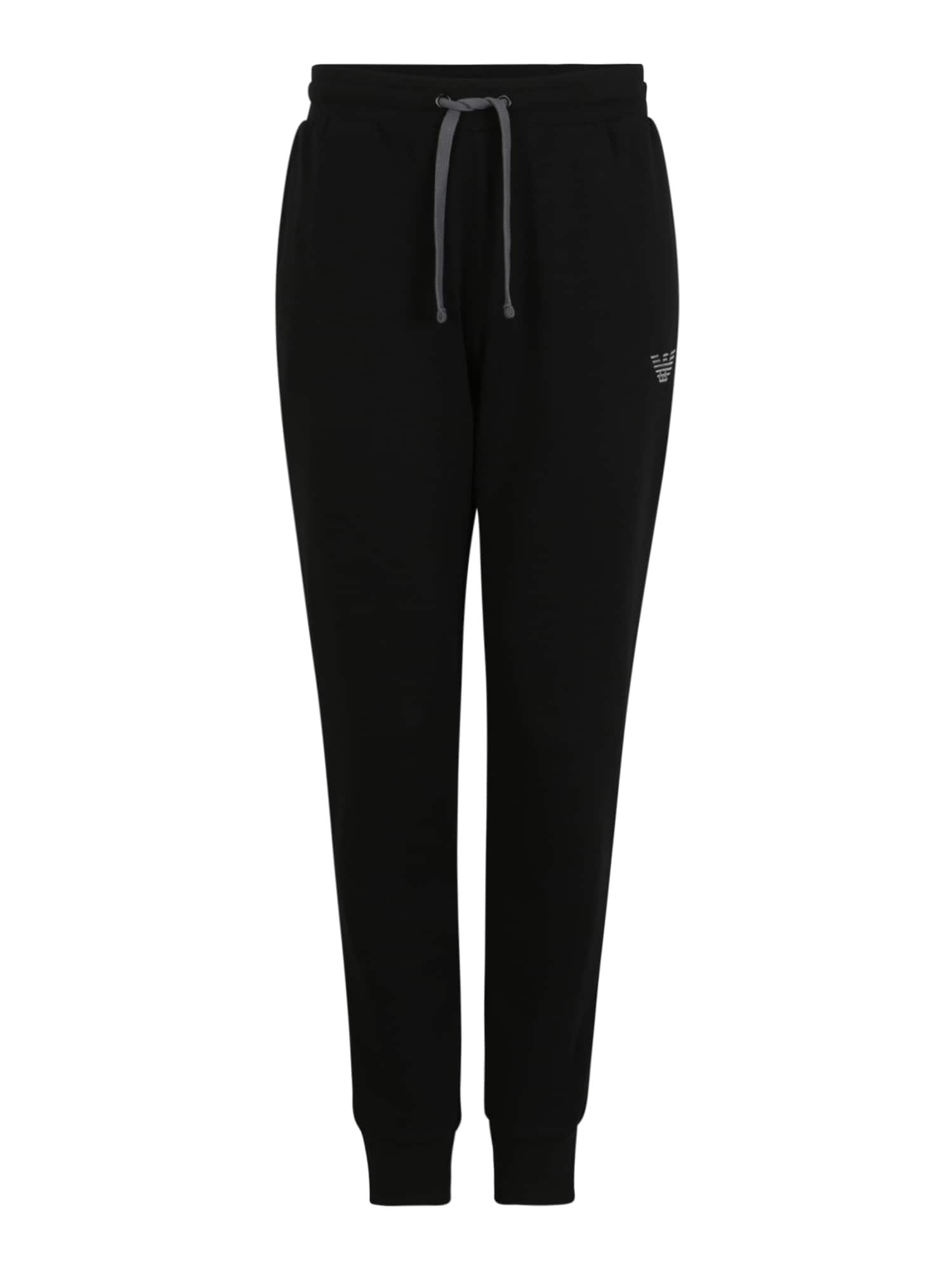 Emporio Armani Kalhoty  černá / šedá