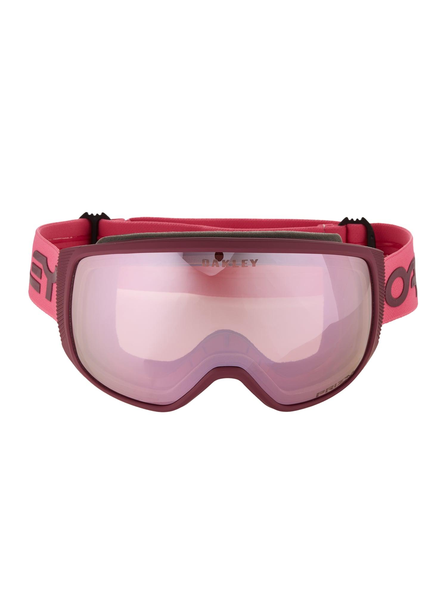 OAKLEY Sportiniai akiniai 'Flight Tracker' rožinė / uogų spalva